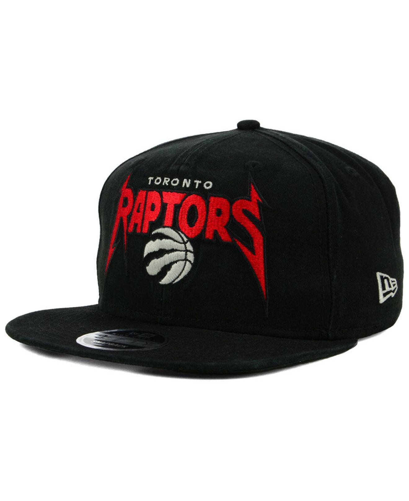 f7fabc8b657 KTZ. Men s Black Toronto Raptors 90s Throwback Groupie 9fifty Snapback Cap