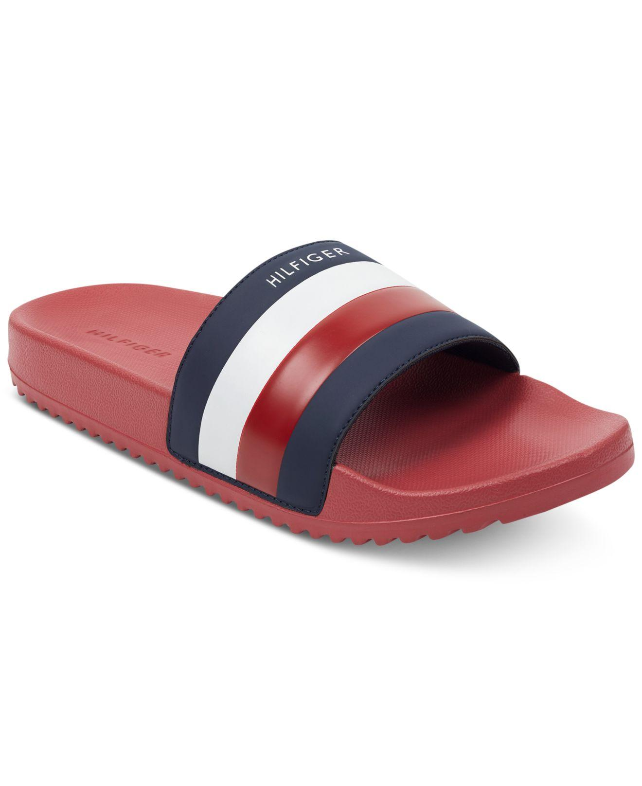 46dacde1b Lyst - Tommy Hilfiger Rox Slide Sandals in Red for Men