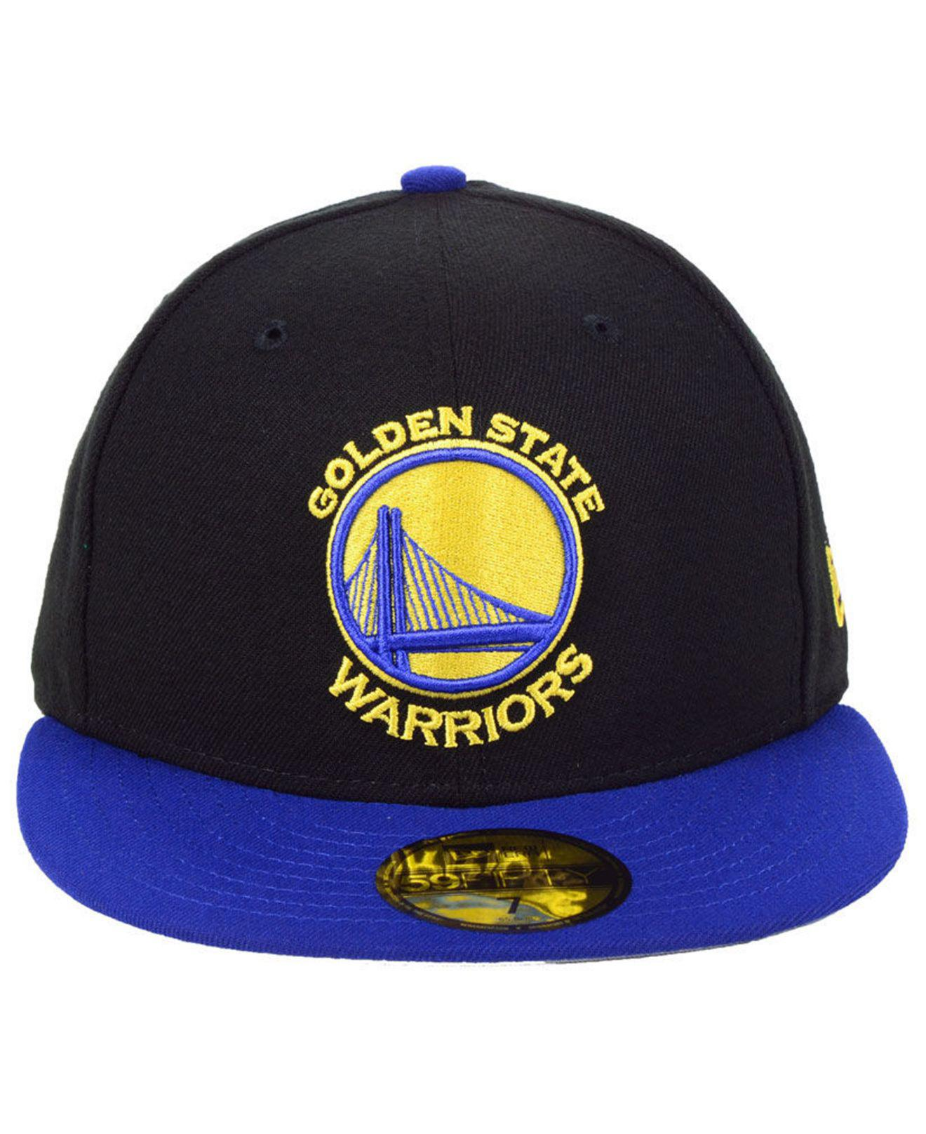 huge selection of c0d0c b1de8 ... greece lyst ktz golden state warriors basic 2 tone 59fifty fitted cap  in black for men