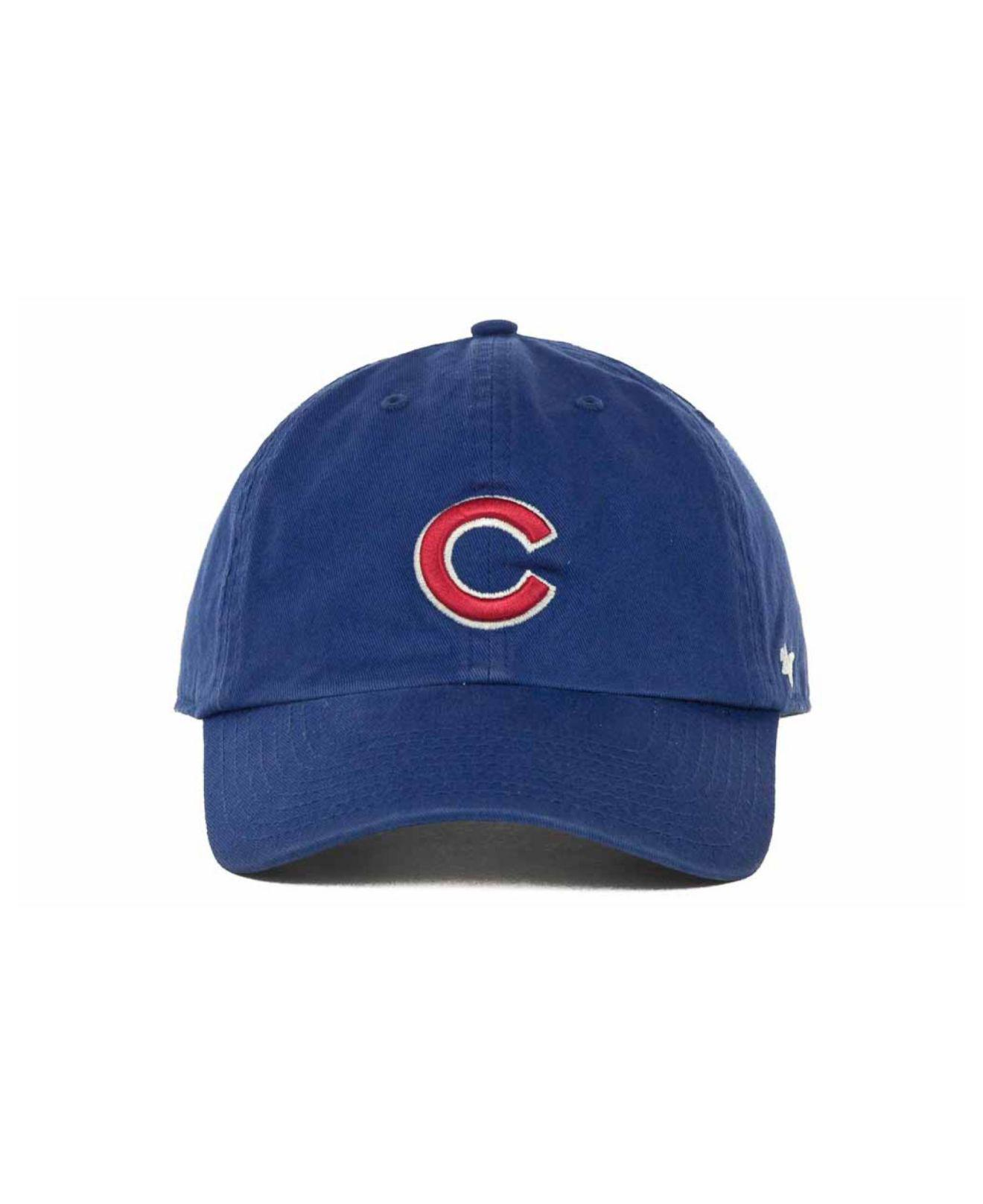 a12efbebfff Lyst - 47 Brand Chicago Cubs Clean Up Hat in Blue for Men