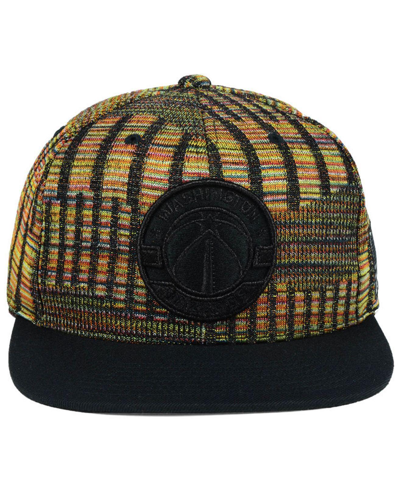 277804d2e7de33 ... italy lyst mitchell ness washington wizards black flag snapback cap in  black for men 15ce8 1bc81