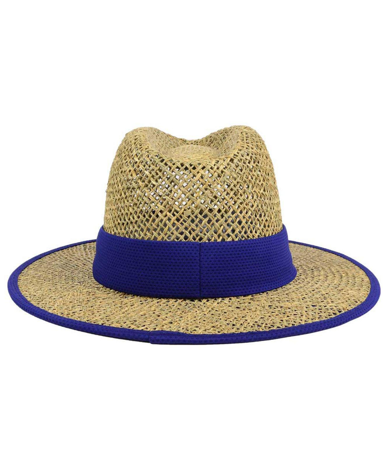 19fee272708ff9 KTZ Los Angeles Dodgers Training Straw Hat in Blue for Men - Lyst