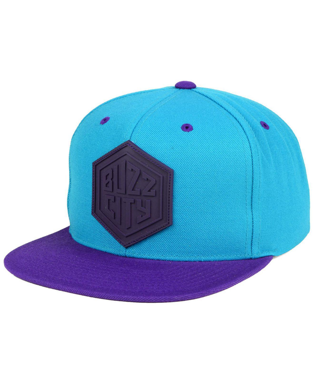 buy online f7863 bdf8a ... wool solid snapback adjustable hat a5258 b46a7  denmark mitchell ness.  mens blue charlotte hornets rubber weld snapback cap 9a2bb b3595