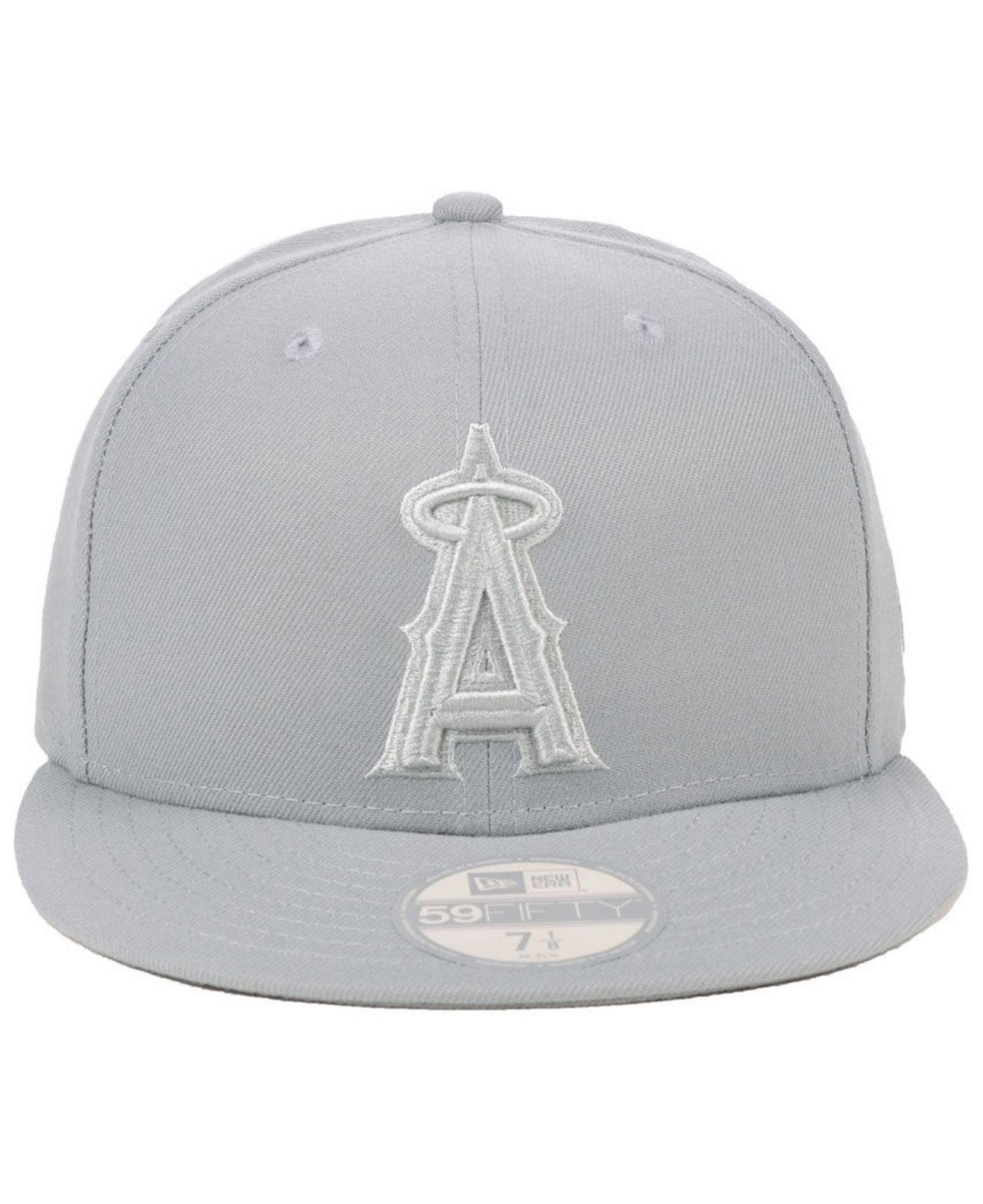 df4cd926872 ... low price lyst ktz los angeles angels fall prism pack 59fifty fitted cap  in gray 7f0a9