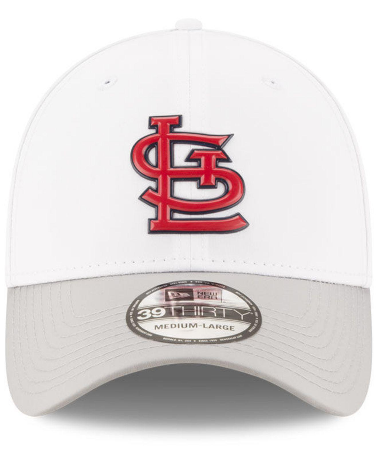 new style fc283 06833 ... get lyst ktz st. louis cardinals white batting practice 39thirty cap in  white for men