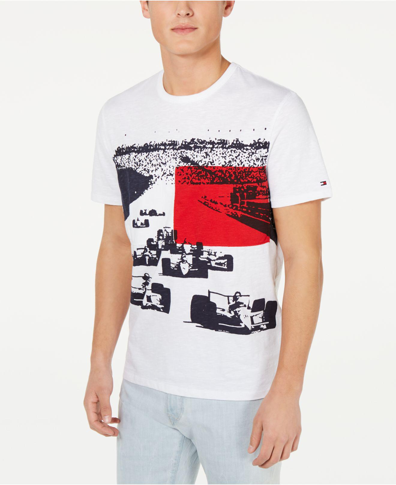 8354c1d90e9a90 Lyst - Tommy Hilfiger Monte Carlo Graphic T-shirt in White for Men