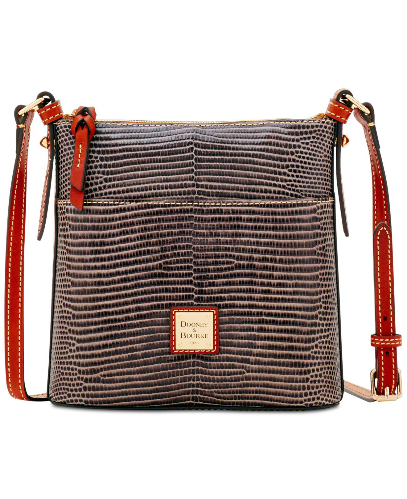 Dooney Bourke Women S Gray Lizard Embossed Leather Small Crossbody