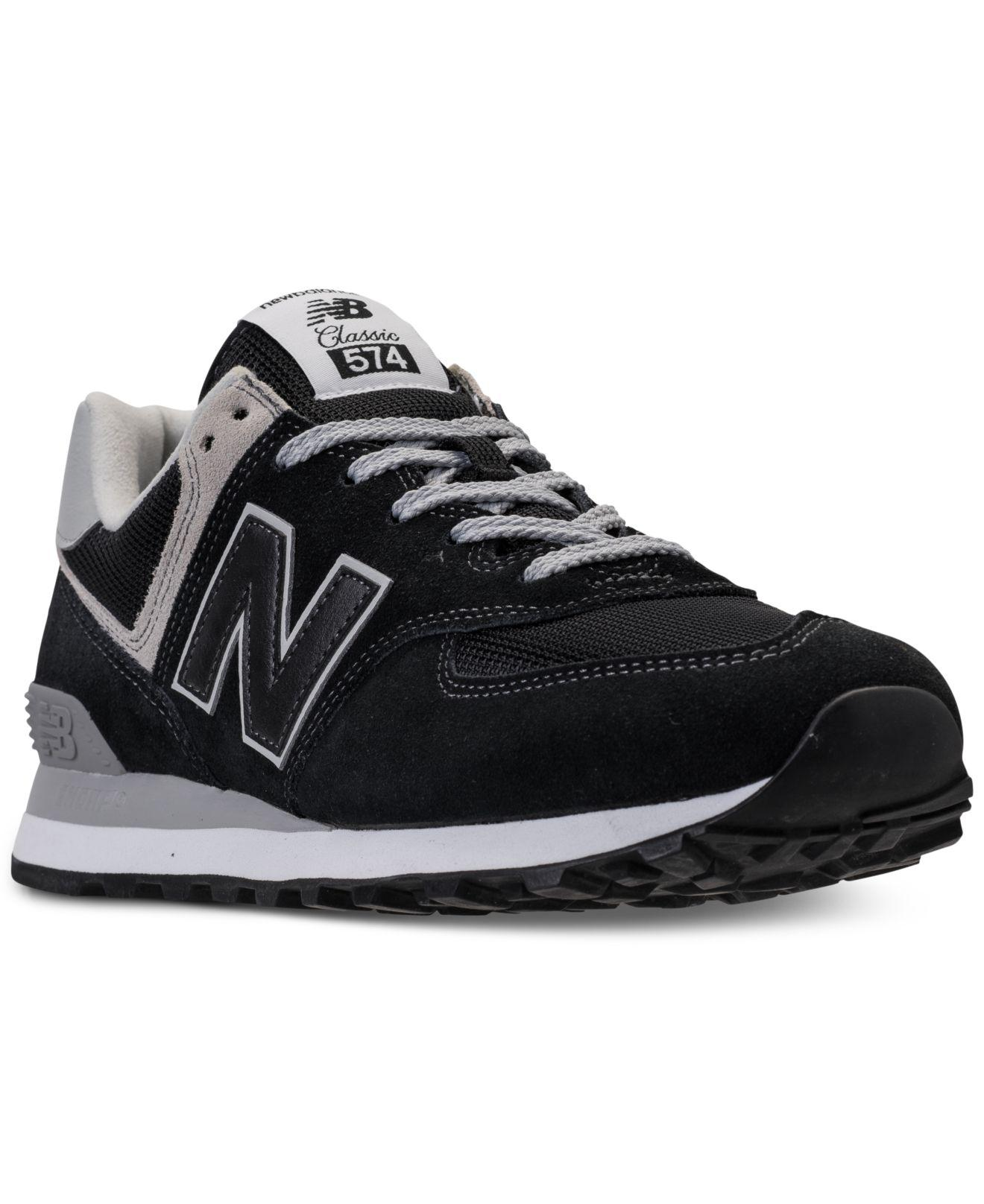 0844c0d34b Lyst - New Balance 574 Casual Sneakers From Finish Line in Black for Men