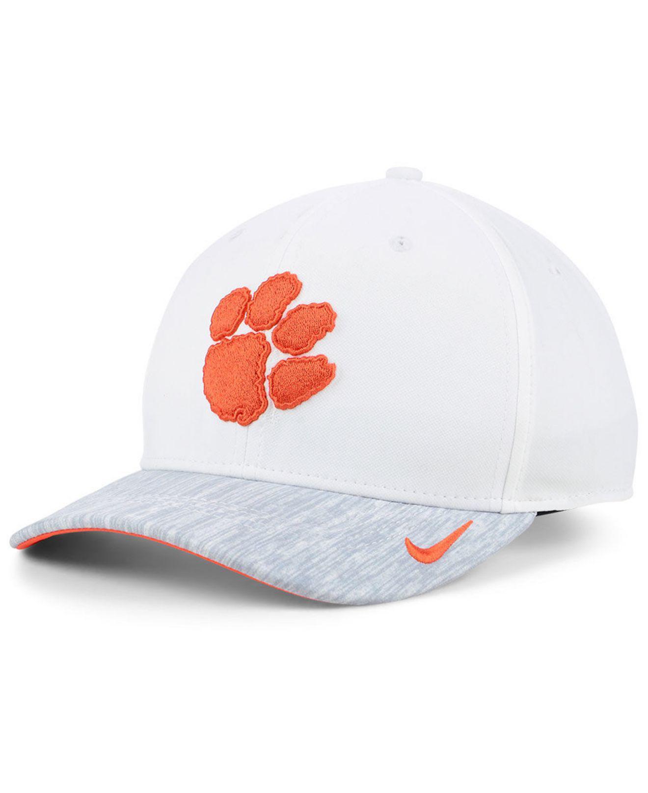 30a2f2b9b84b6 Lyst - Nike Clemson Tigers Arobill Swoosh Flex Cap in White for Men