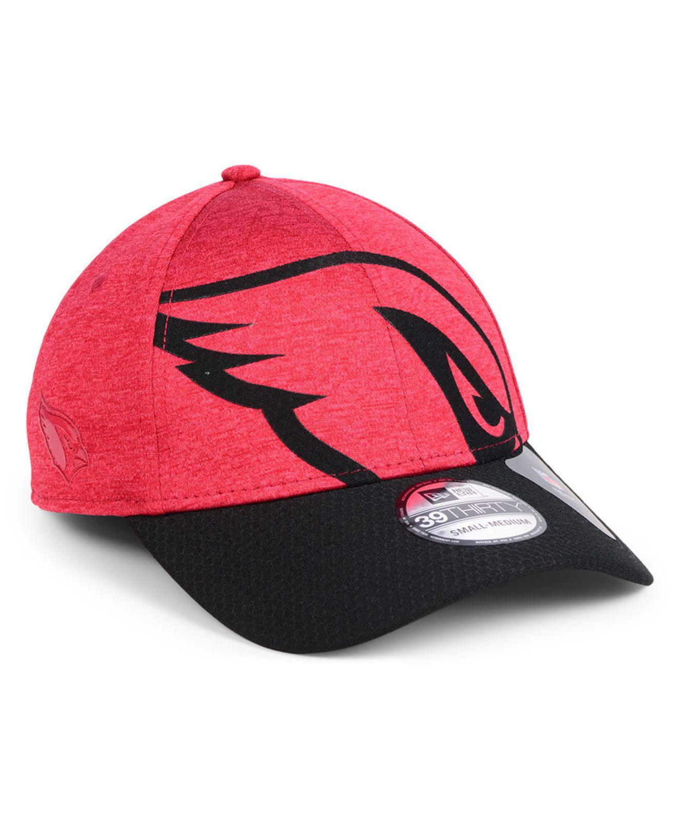 Lyst - Ktz Arizona Cardinals Oversized Laser Cut Logo 39thirty Cap ... 230b36db5