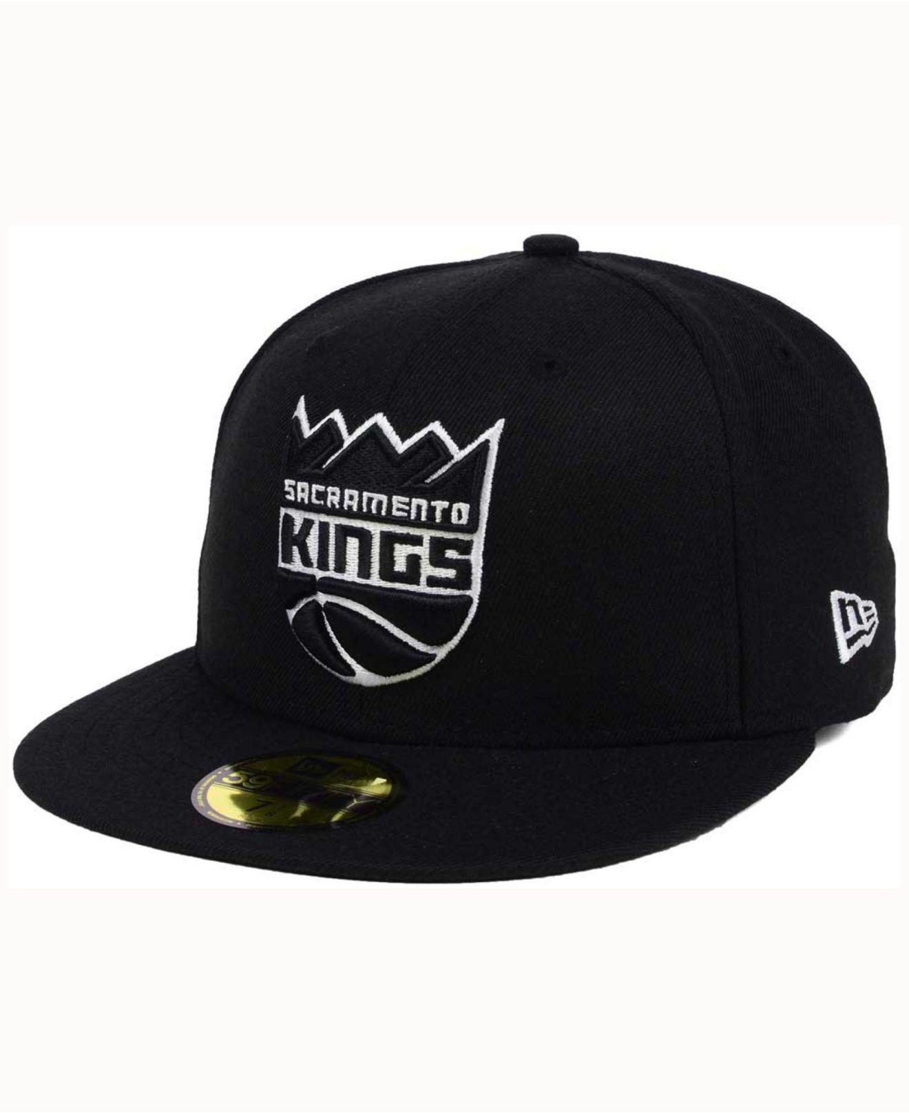 wholesale dealer 6438d f5d8d cheap ktz sacramento kings black white 59fifty cap for men lyst. view  fullscreen e183b 705a3