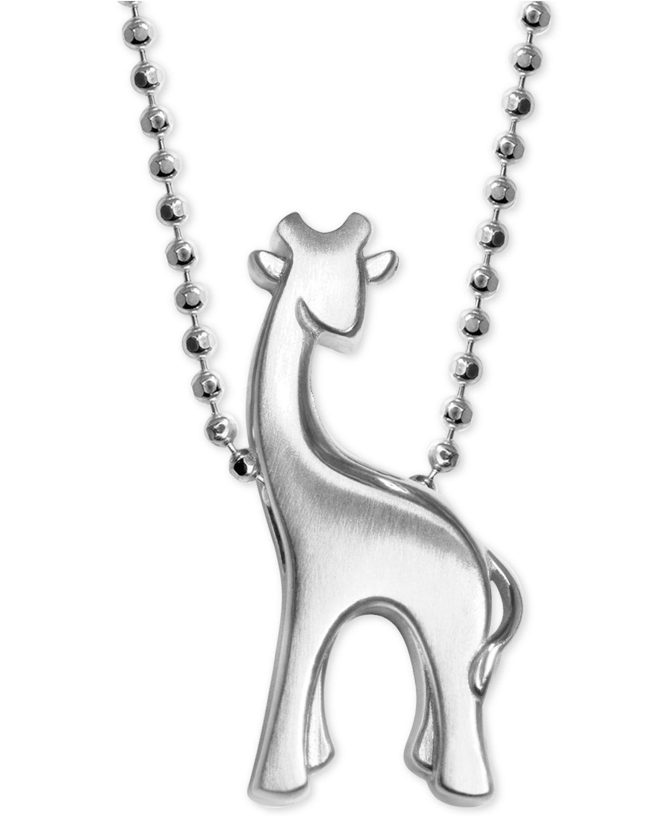 jewelry diamonds in woo white little d alex pendant gold animals littleanimals giraffe products with