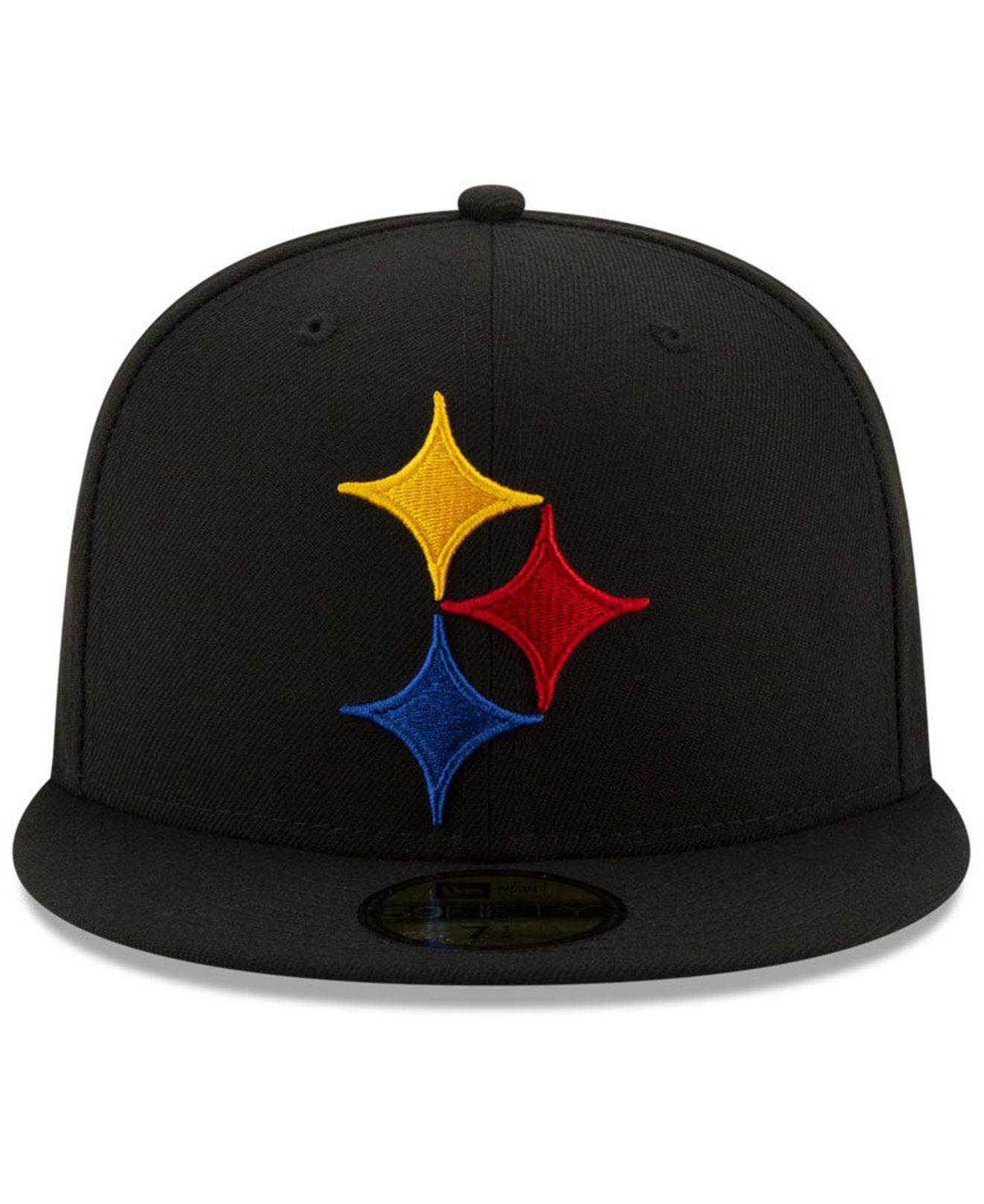 Lyst - KTZ Pittsburgh Steelers Logo Elements Collection 59fifty Fitted Cap  in Black 10b0046f45d