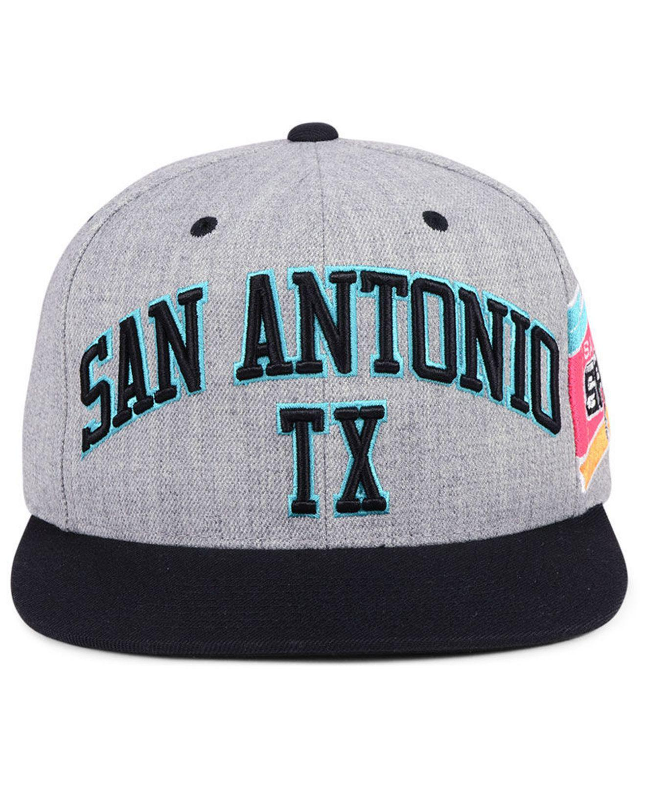 premium selection 69fd0 4488d ... metallic snapback cap 51c8a 8b218  clearance lyst mitchell ness san  antonio spurs side panel cropped snapback 354f1 782be