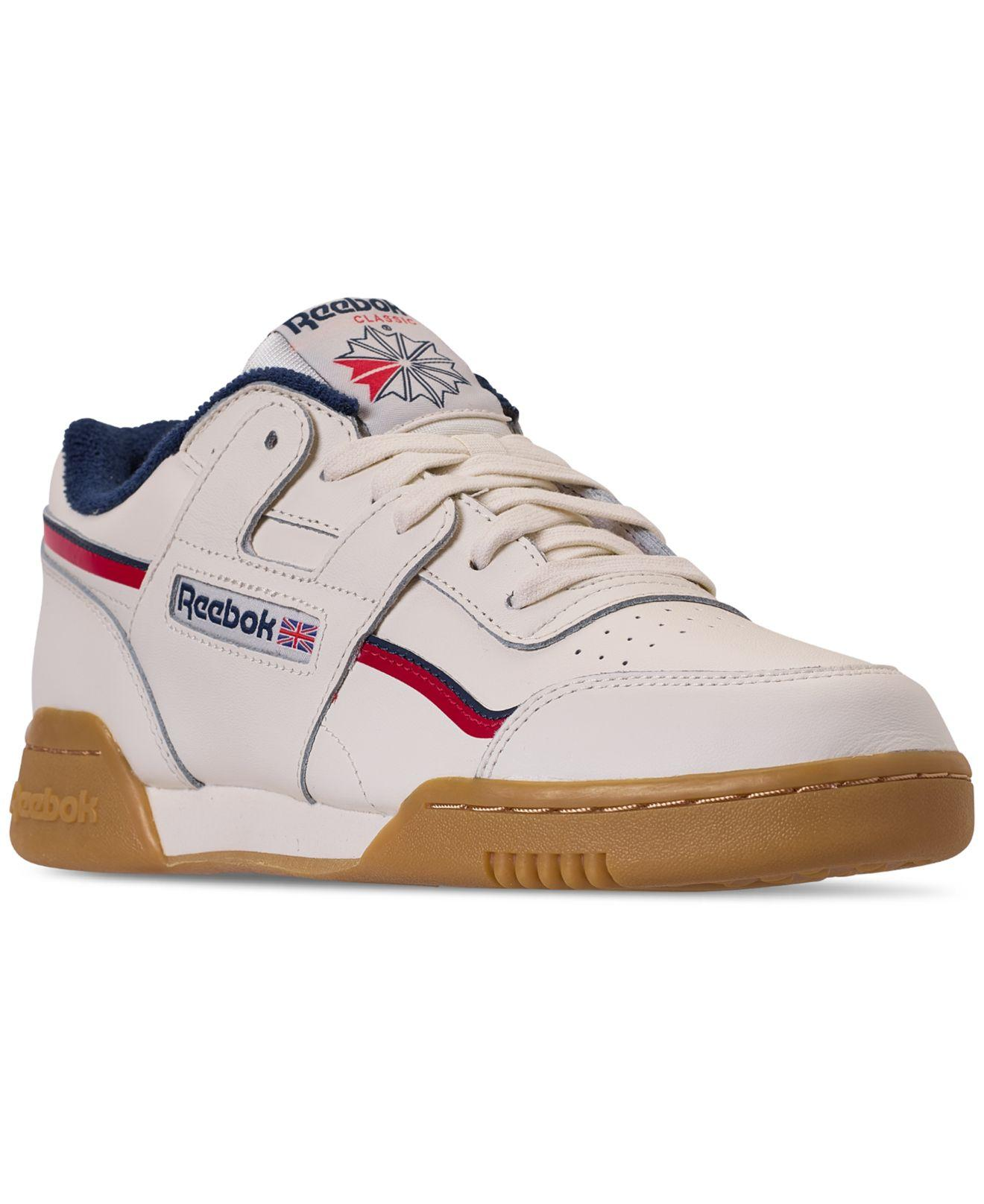 Lyst - Reebok Workout Plus Mu Casual Sneakers From Finish Line in ... 8038f2e9f