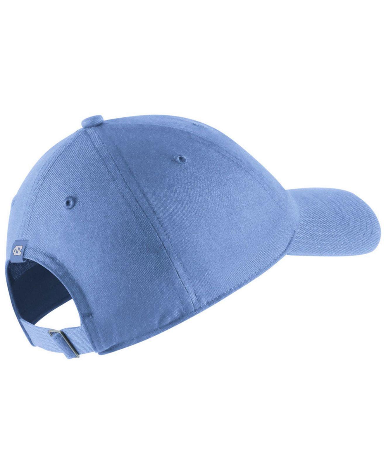 on sale 645fc f8269 Lyst - Nike North Carolina Tar Heels H86 Wordmark Swoosh Cap in Blue for Men