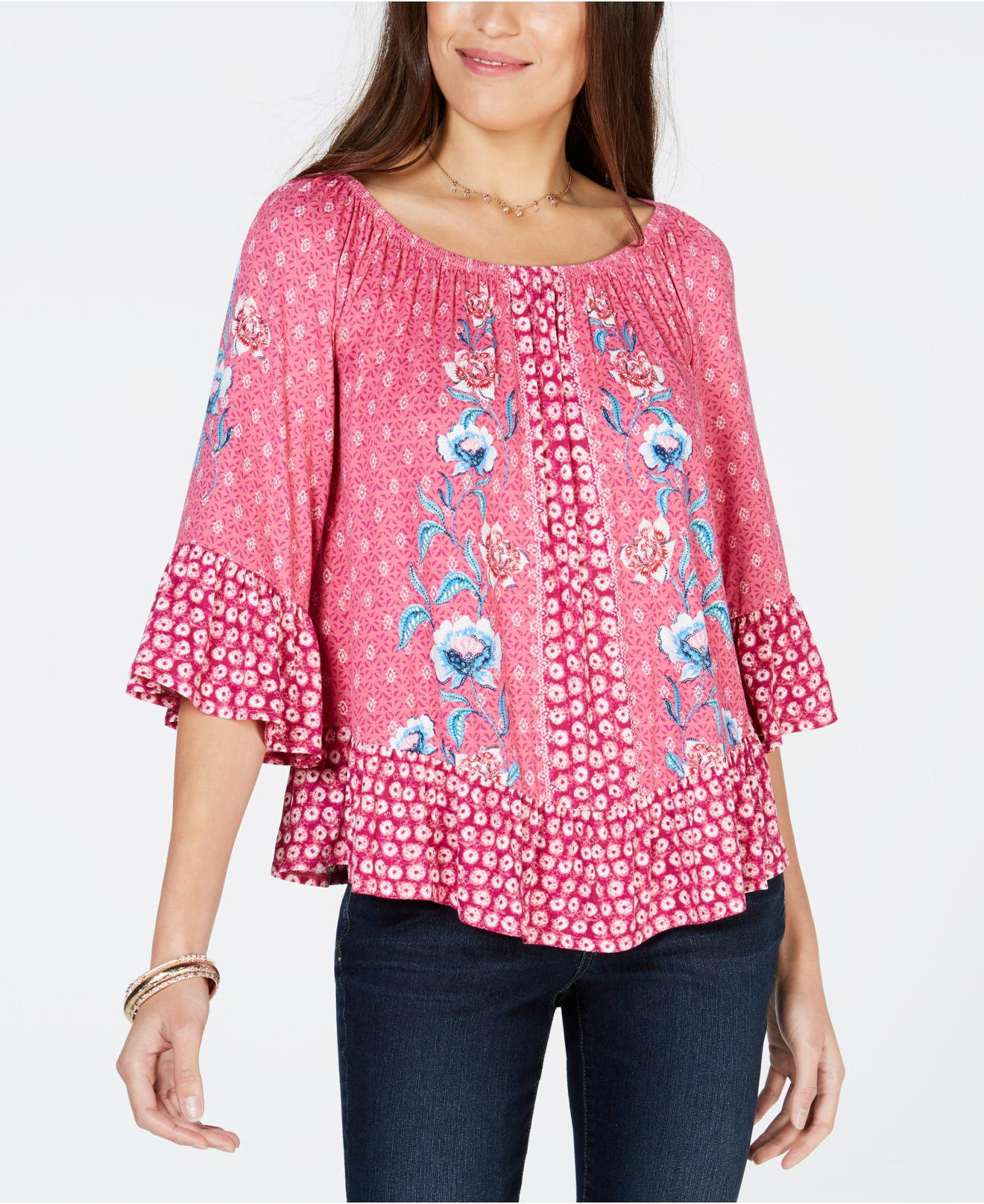 3cac7a095d5 Lyst - Style & Co. Printed Off-the-shoulder Top, Created For Macy's ...