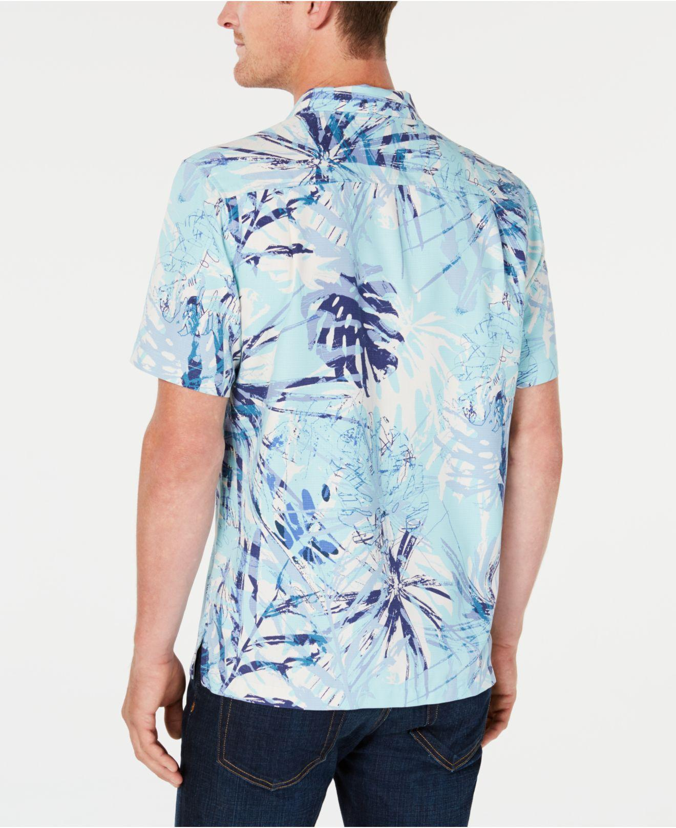4f71b604c Lyst - Tommy Bahama Fiesta Loco Floral-print Silk Hawaiian Shirt in Blue for  Men