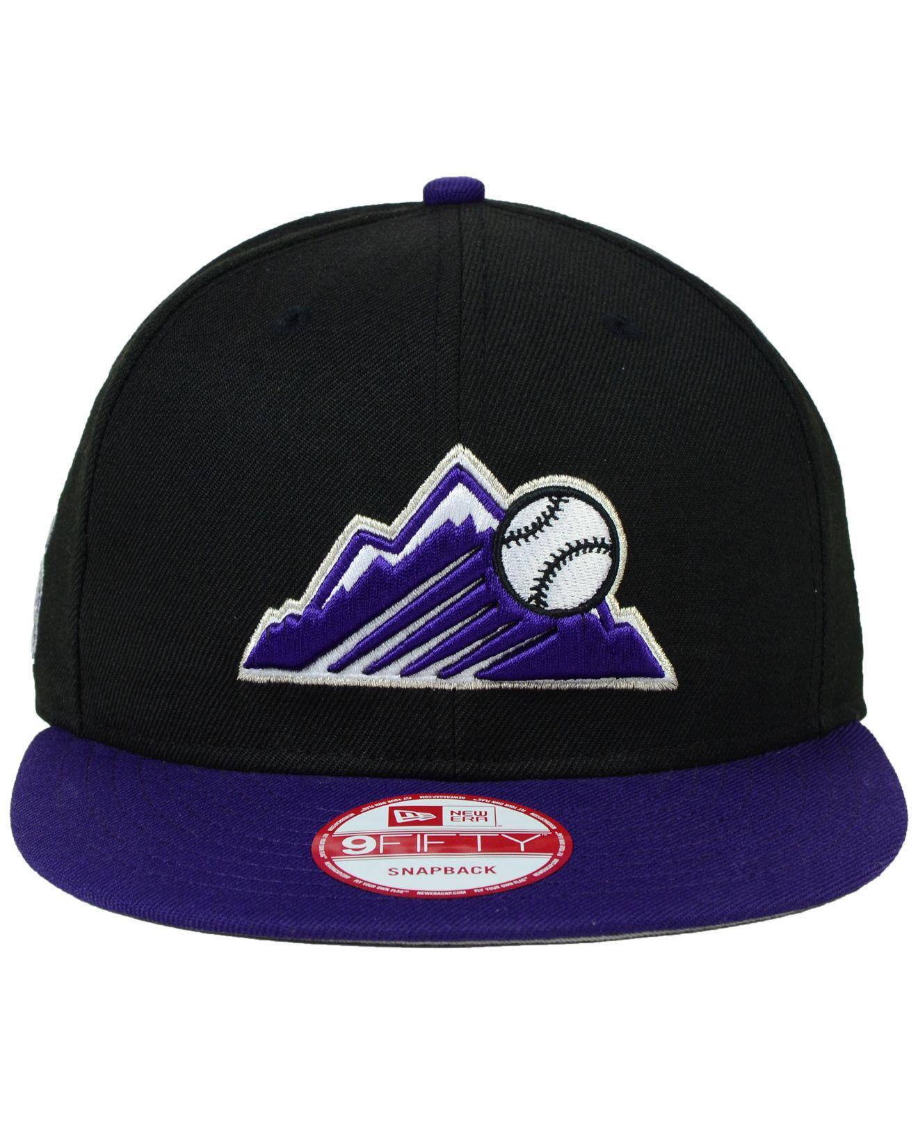 df906e8ff6d Lyst - KTZ Colorado Rockies 2-tone Link 9fifty Snapback Cap in Purple for  Men
