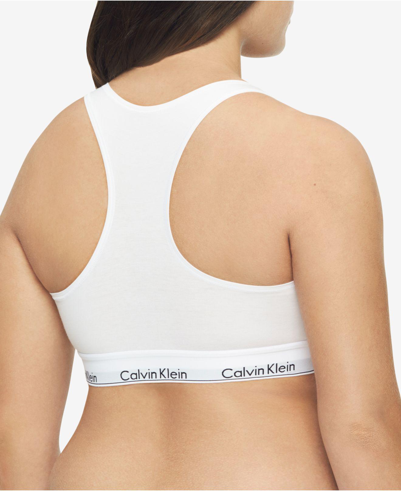 e890b569639 Calvin Klein - White Plus Size Modern Cotton Unlined Bralette Qf5116 -  Lyst. View fullscreen