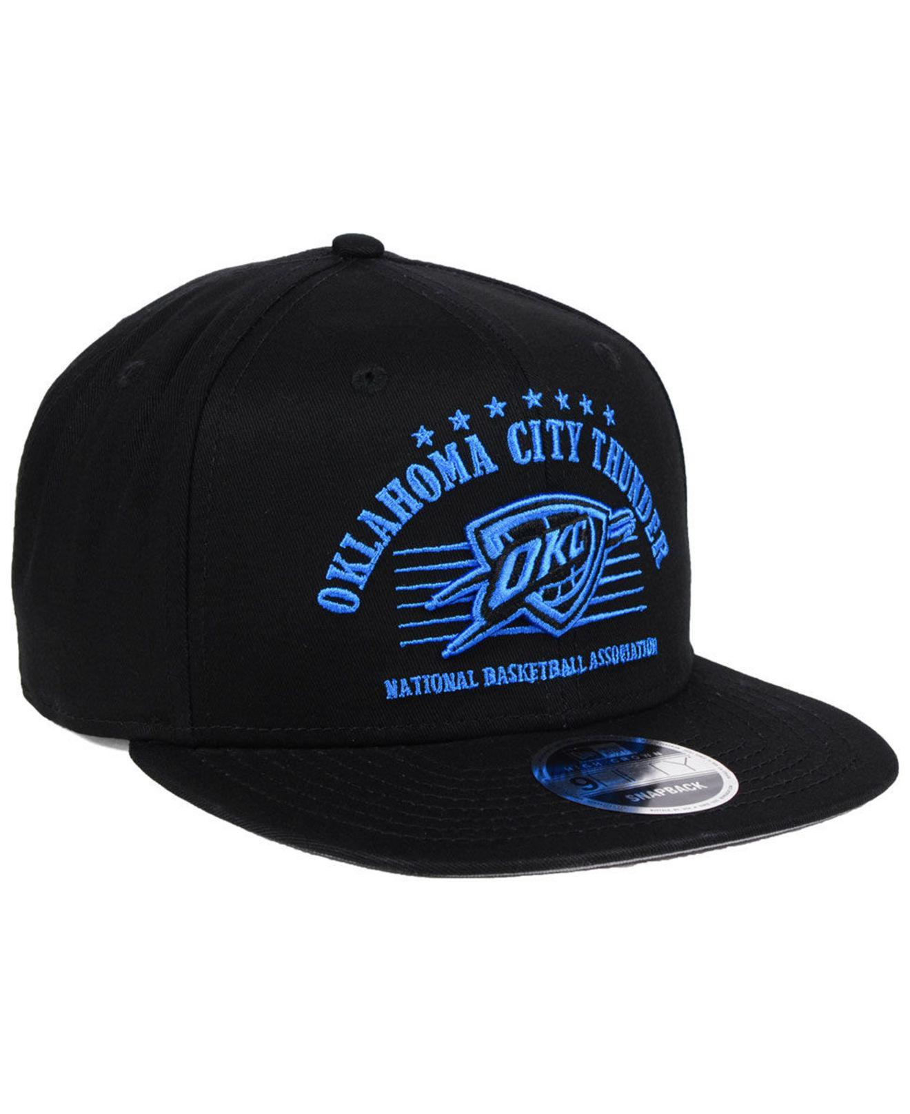 new concept 13a21 f27ff ... france oklahoma city thunder retro arch 9fifty snapback cap for men lyst.  view fullscreen 9fda4