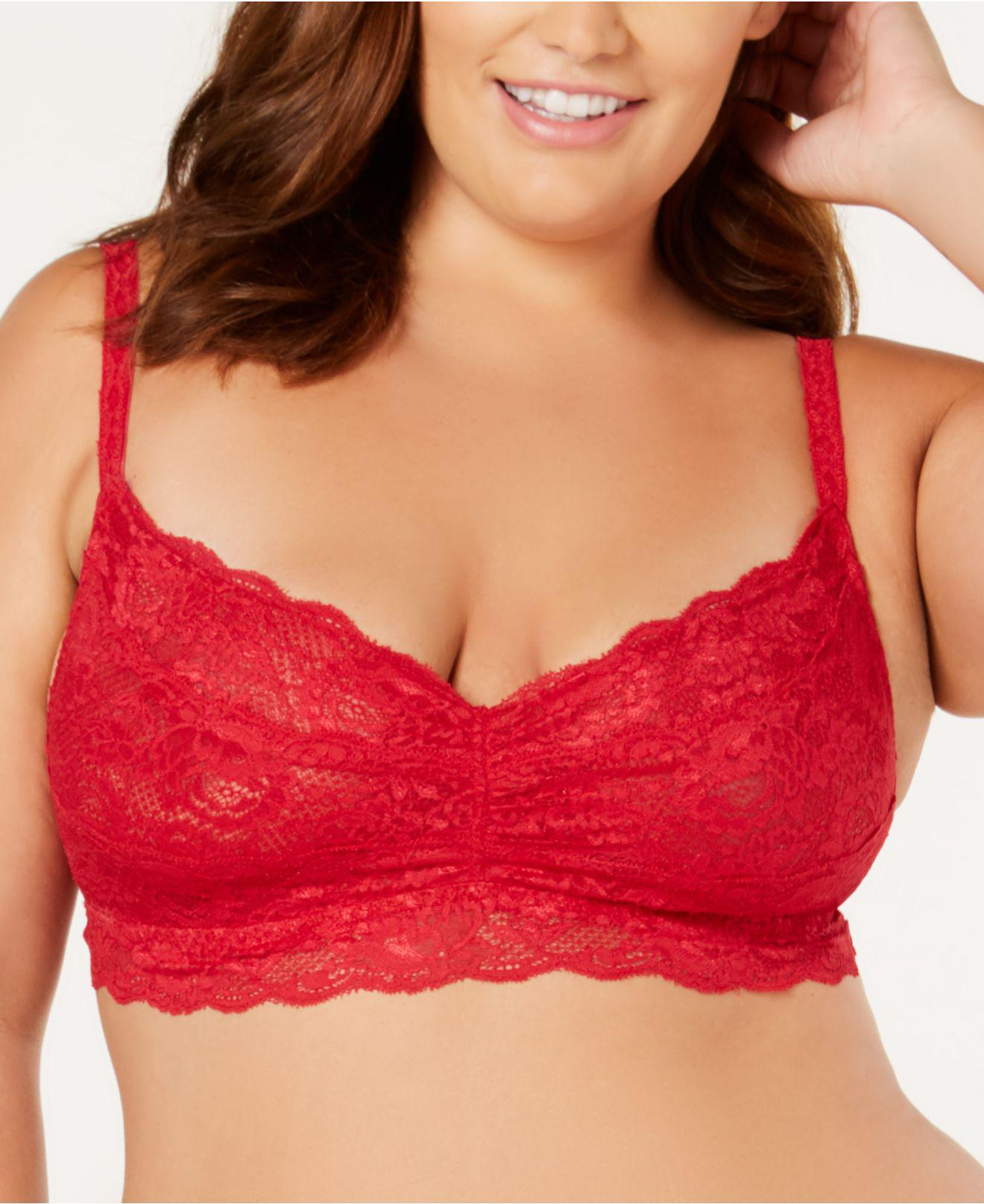 7be4f65aef130 Cosabella. Women s Red Never Say Never Plus Size Lace Sweetie Bralette  Never1301p
