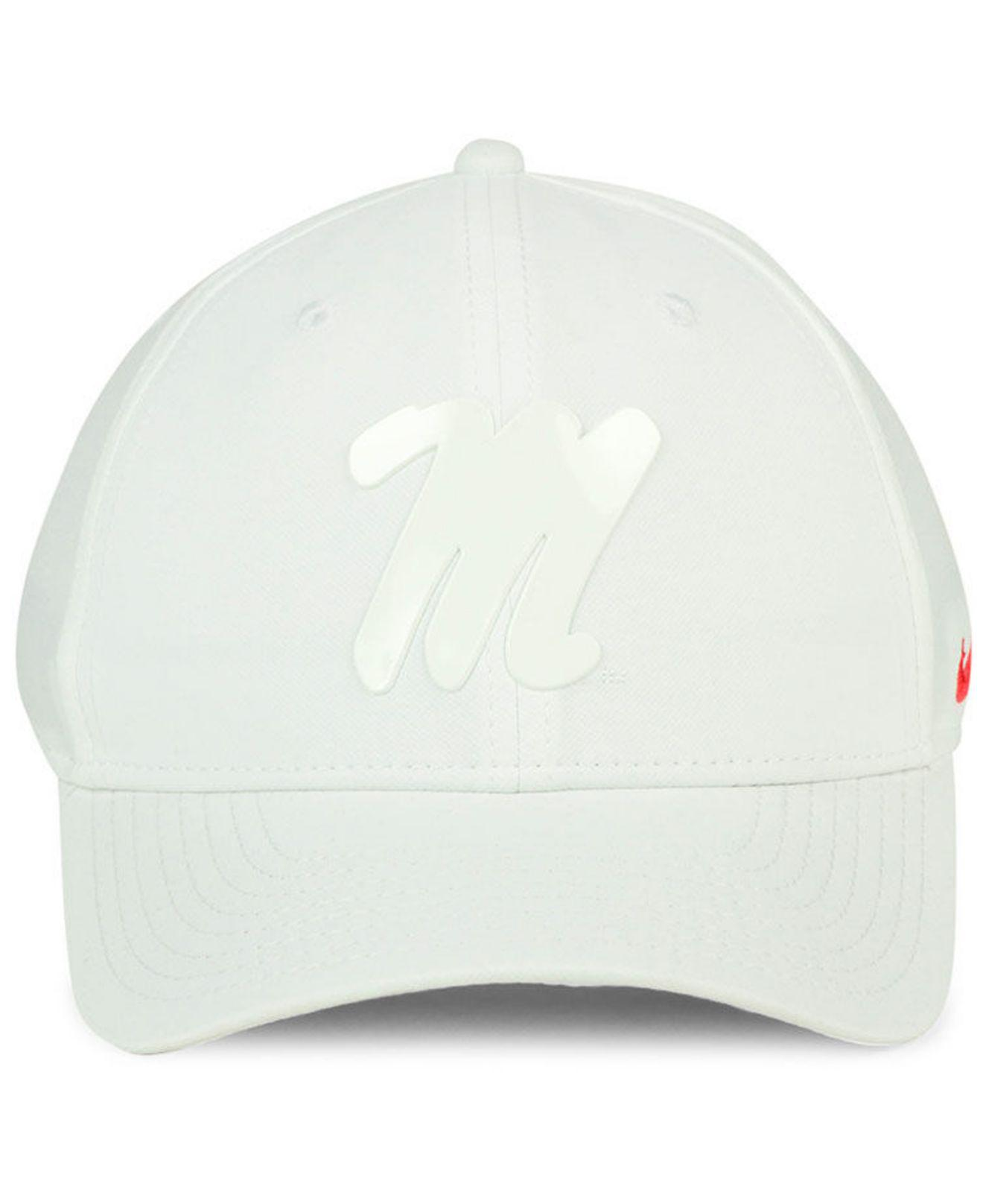 new product 473b7 76968 Nike Ole Miss Rebels Col Cap in White for Men - Lyst