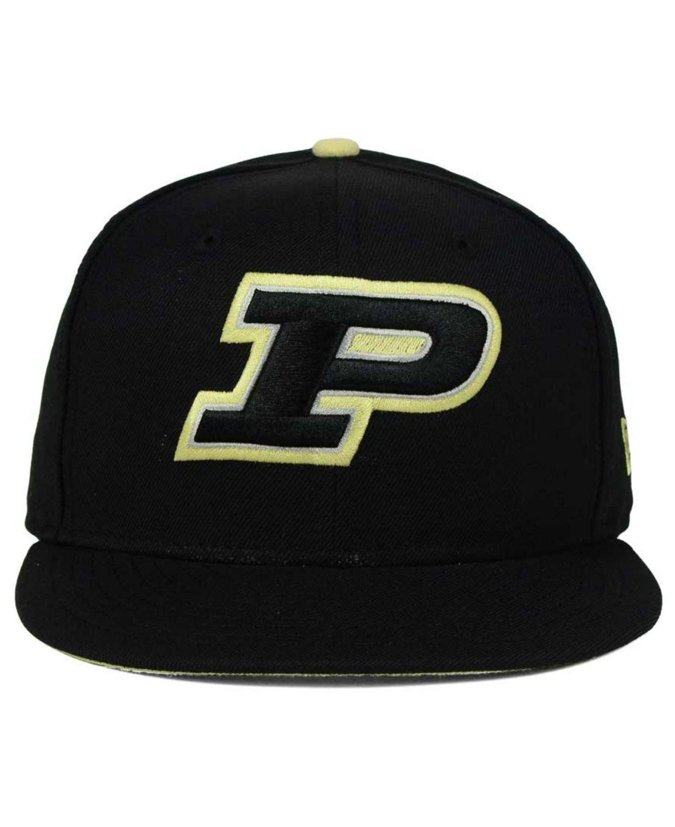 info for 74be6 80ecb Lyst - KTZ Purdue Boilermakers Core 9fifty Snapback Cap in Black for Men