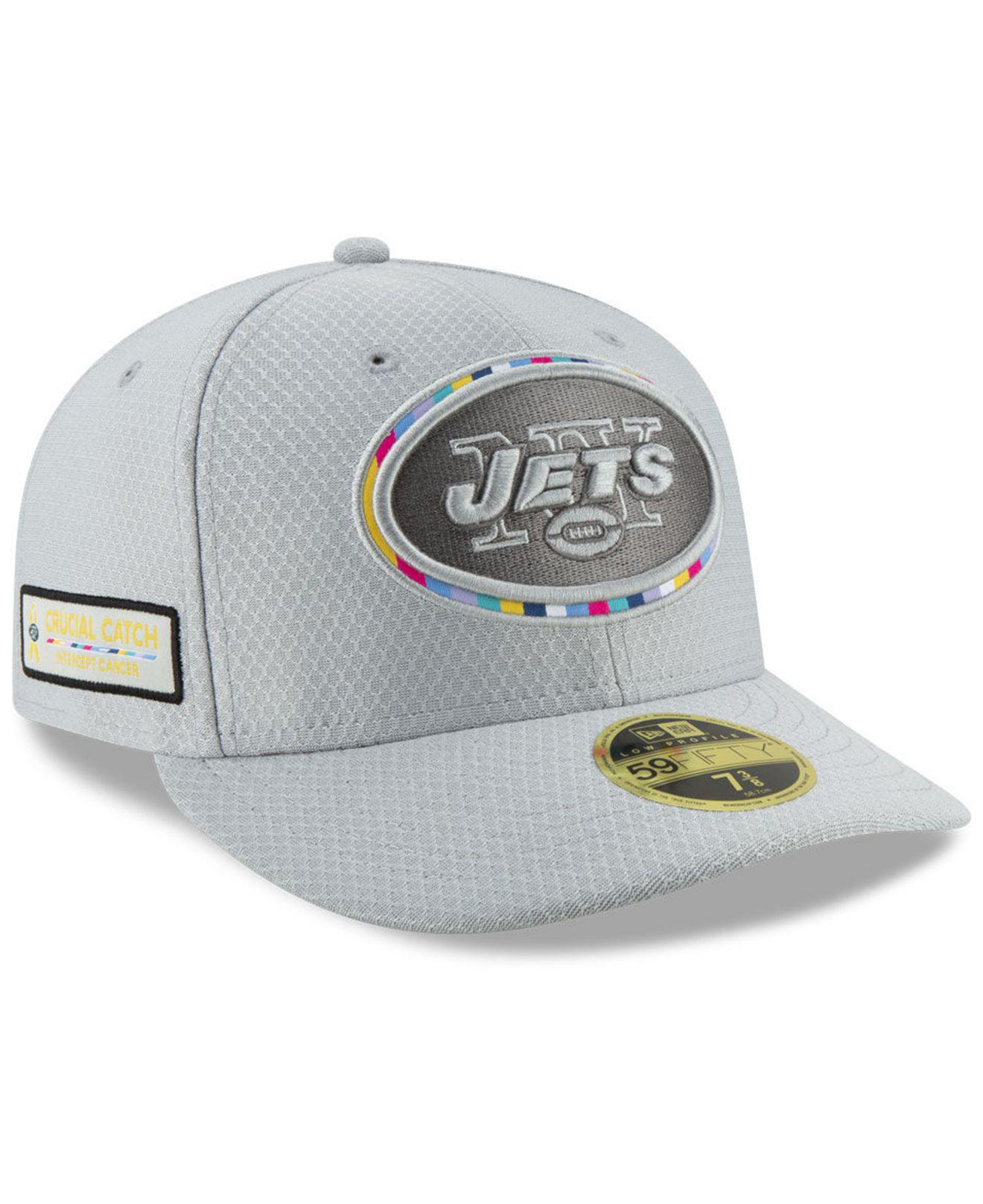 KTZ. Men s Gray New York Jets Crucial Catch Low Profile 59fifty Fitted Cap acccfc4f1