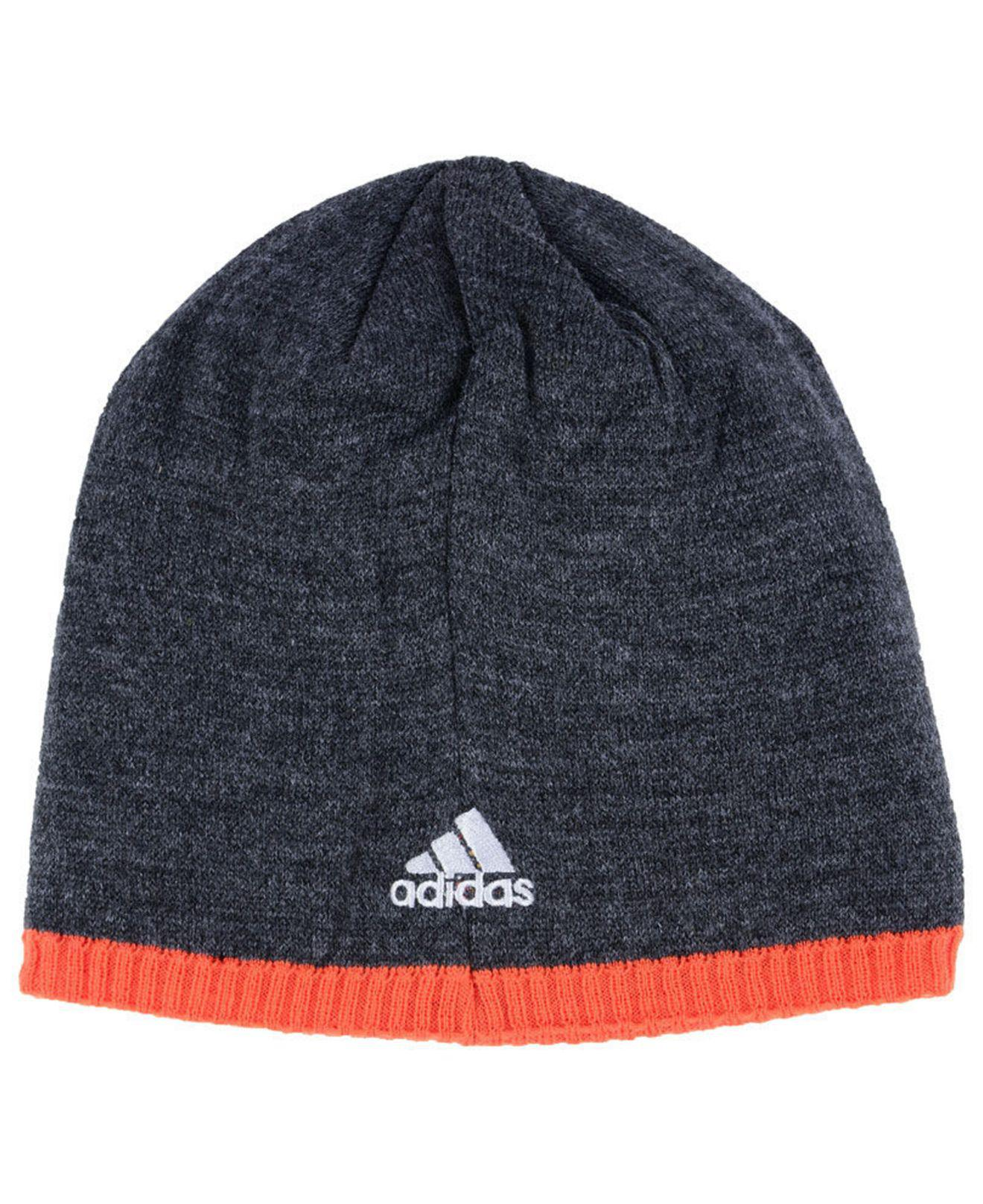 check out 0657f 0a0b3 ... italy lyst adidas new york islanders heather beanie in blue for men  cc4d1 33e5e