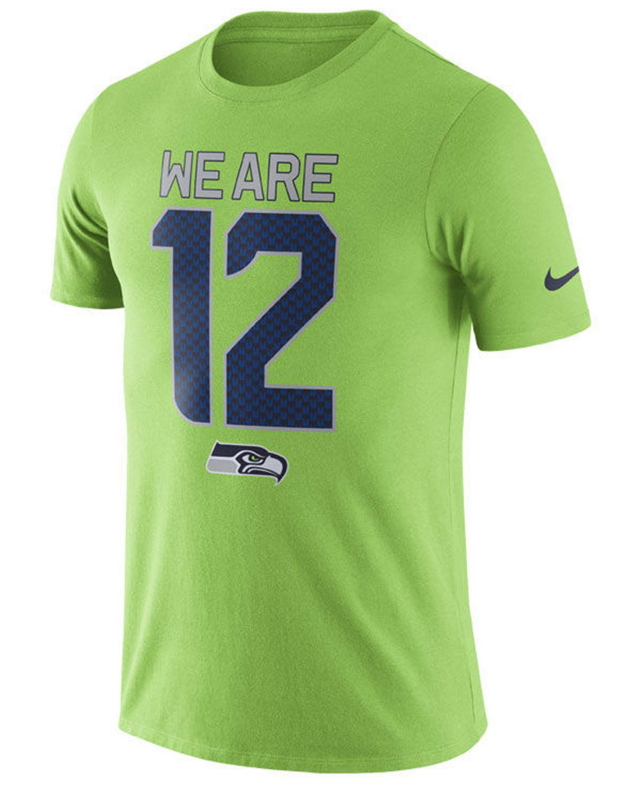 8a80e2b0 Nike Dri-fit (nfl Seahawks) T-shirt in Green for Men - Save 28% - Lyst