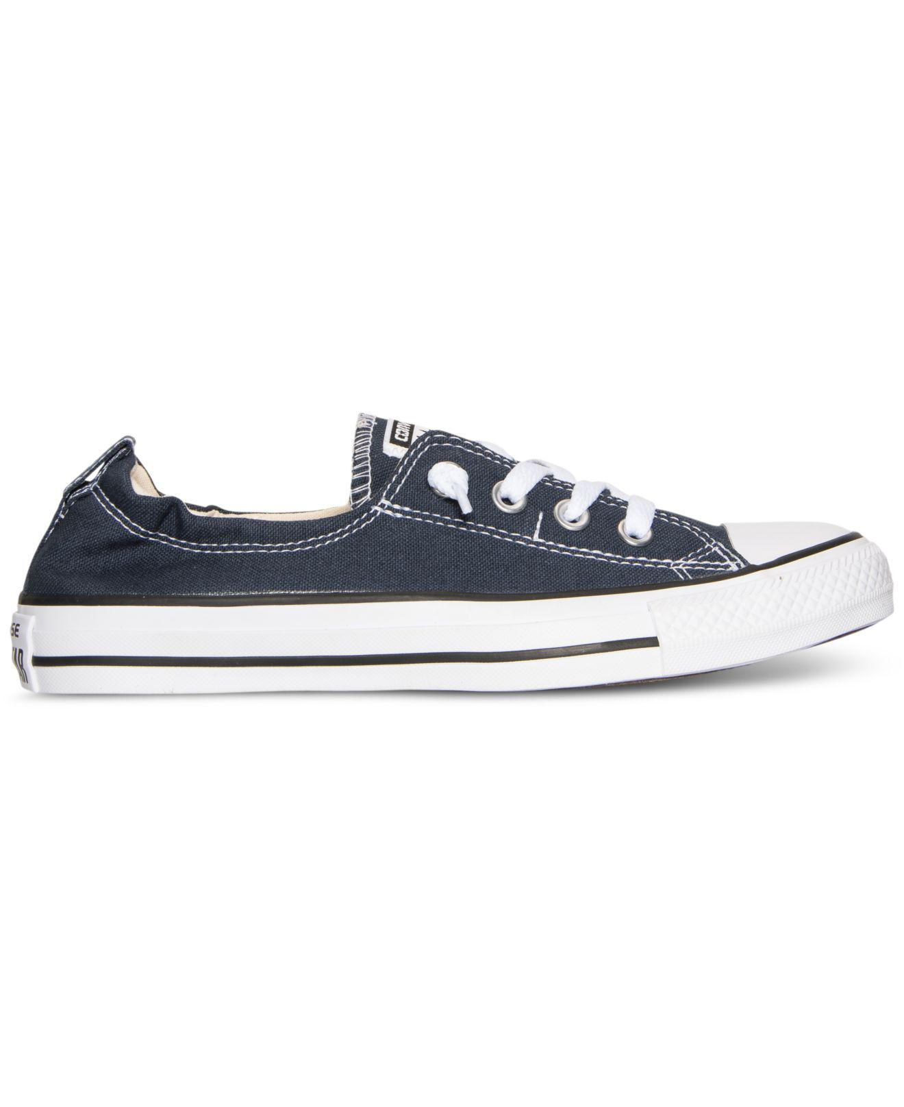 huge discount 5373e 1a48b Lyst - Converse Women s Chuck Taylor Shoreline Ox Casual Sneakers From Finish  Line in Blue