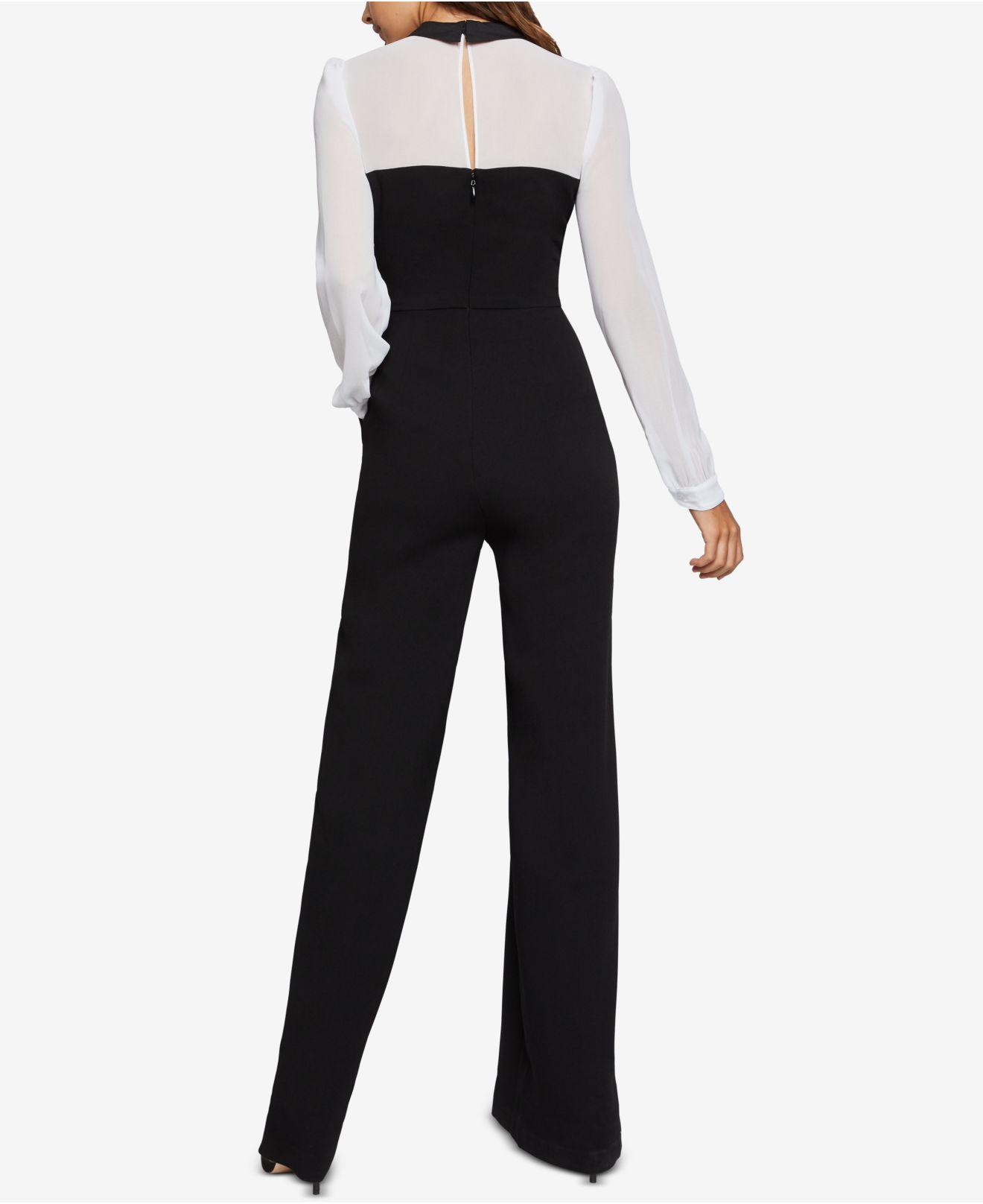 401b2c02b236 Lyst - BCBGeneration Colorblocked Layered-look Jumpsuit in Black - Save 50%