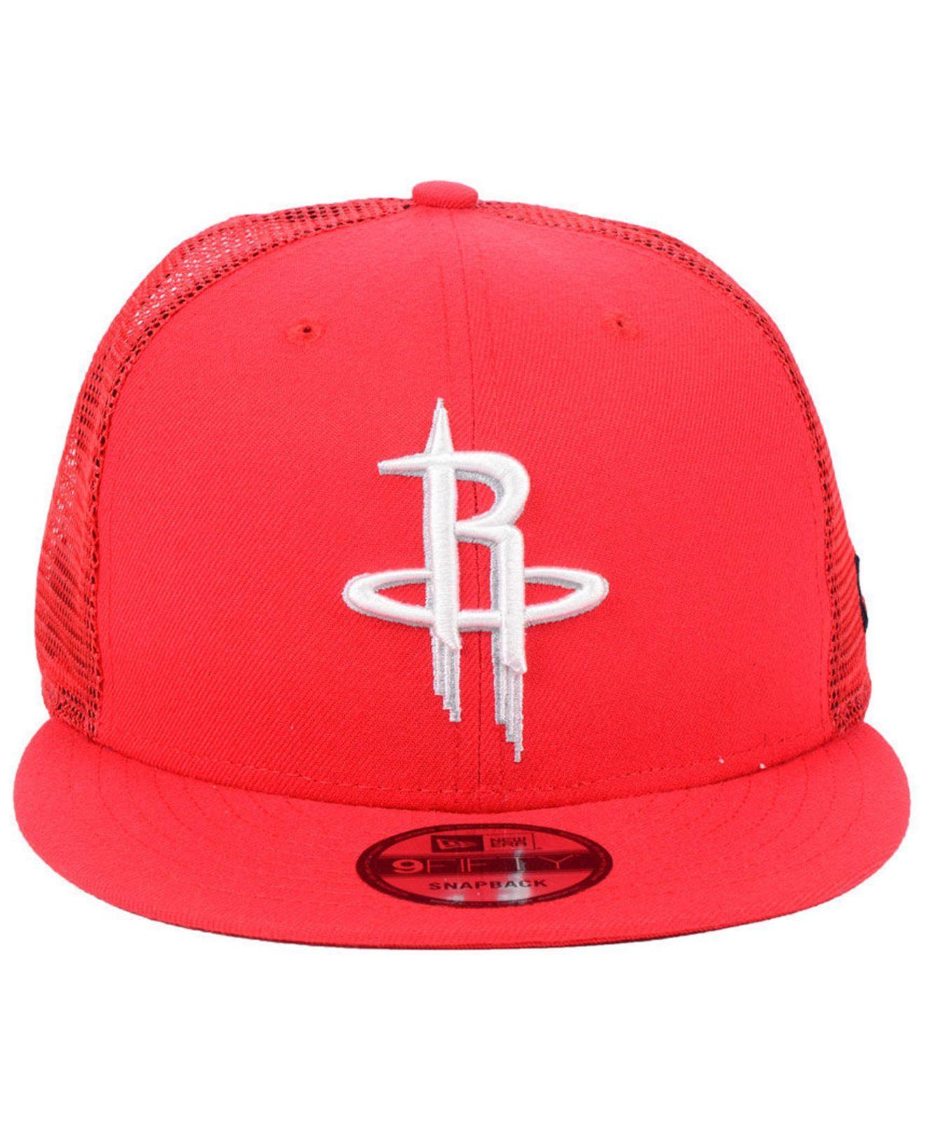 39b5cbf83cb Lyst - KTZ Houston Rockets Nothing But Net 9fifty Snapback Cap in Red for  Men