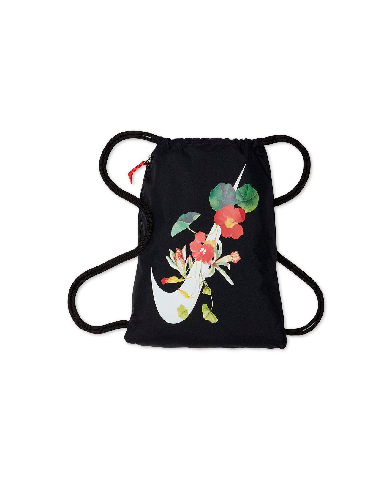 7b4ac6f48 Nike Ultra-femme Floral-logo Gym Sack in Black - Lyst