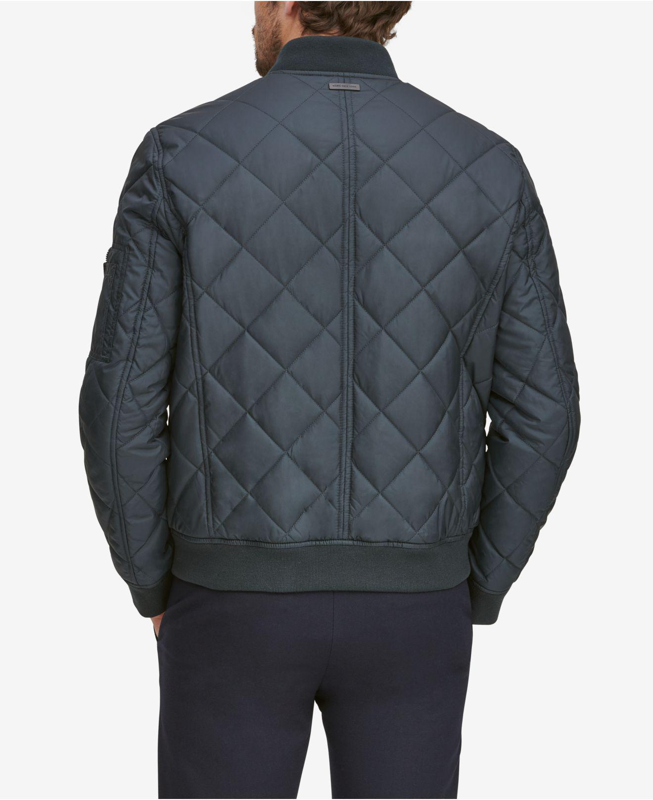 1fe98d3e5975 Lyst - Marc New York Fletcher Lightweight Quilted Bomber Jacket in ...