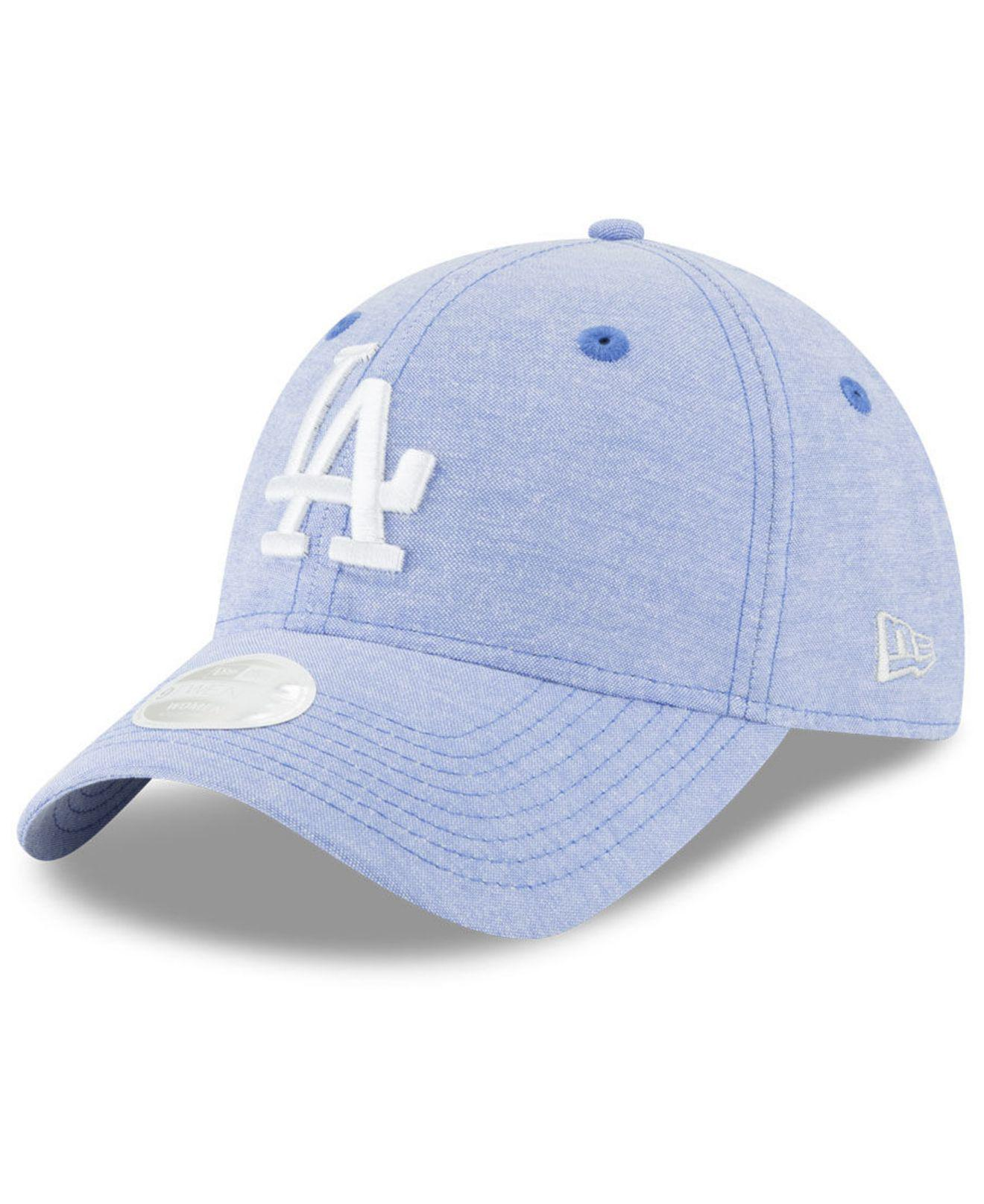 e0bfe5f04b5 ... clearance lyst ktz los angeles dodgers team linen 9twenty strapback cap  in blue b3b31 c72d9