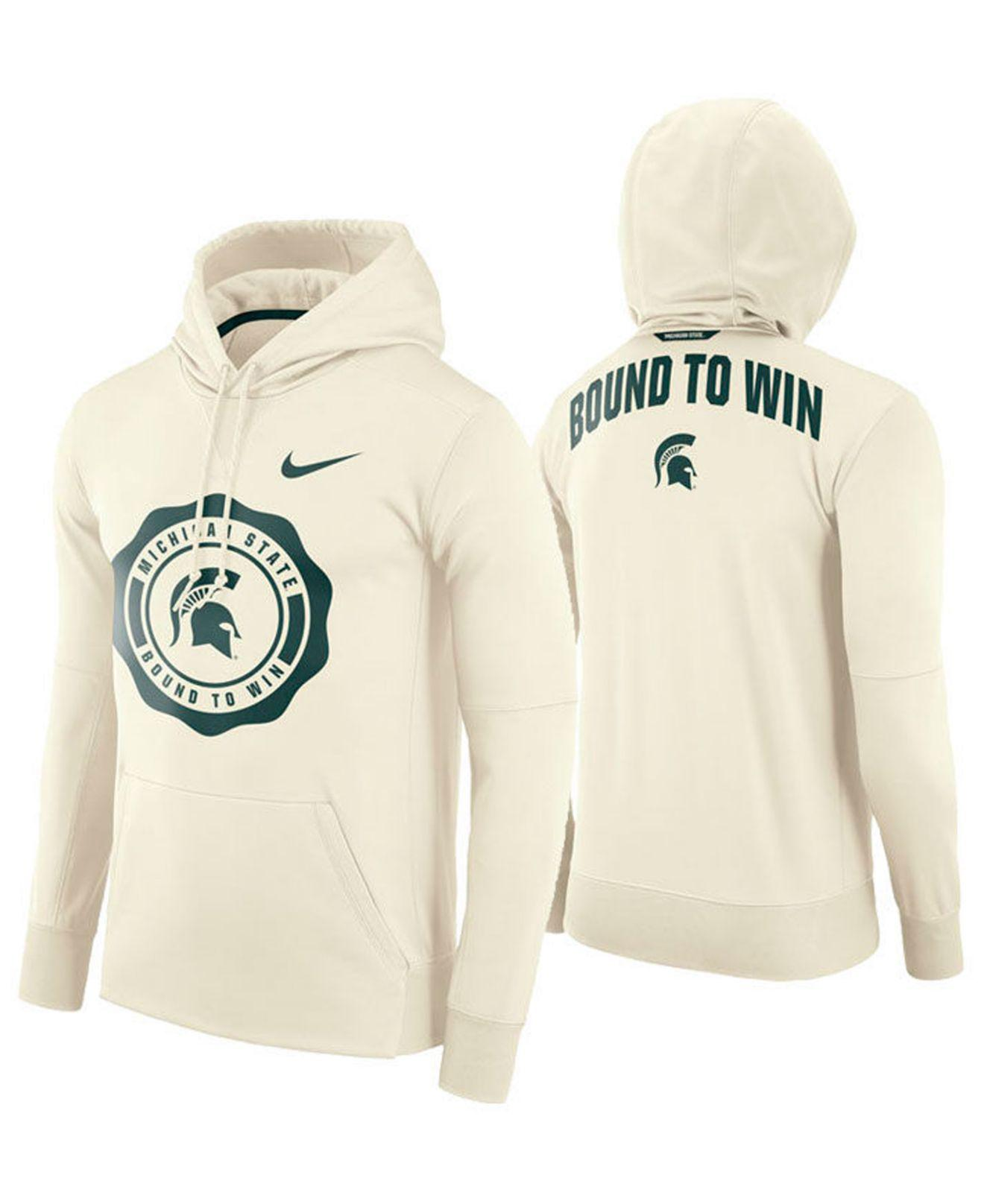 Lyst Nike Michigan State Spartans Rivalry Therma Hooded Sweatshirt