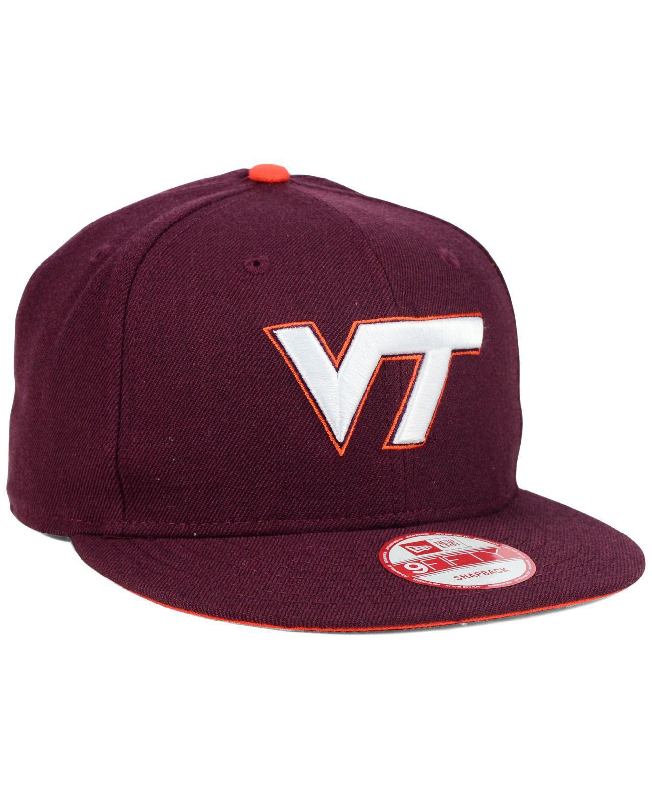 pretty nice 8303f cb7f3 KTZ - Purple Virginia Tech Hokies Core 9fifty Snapback Cap for Men - Lyst.  View fullscreen