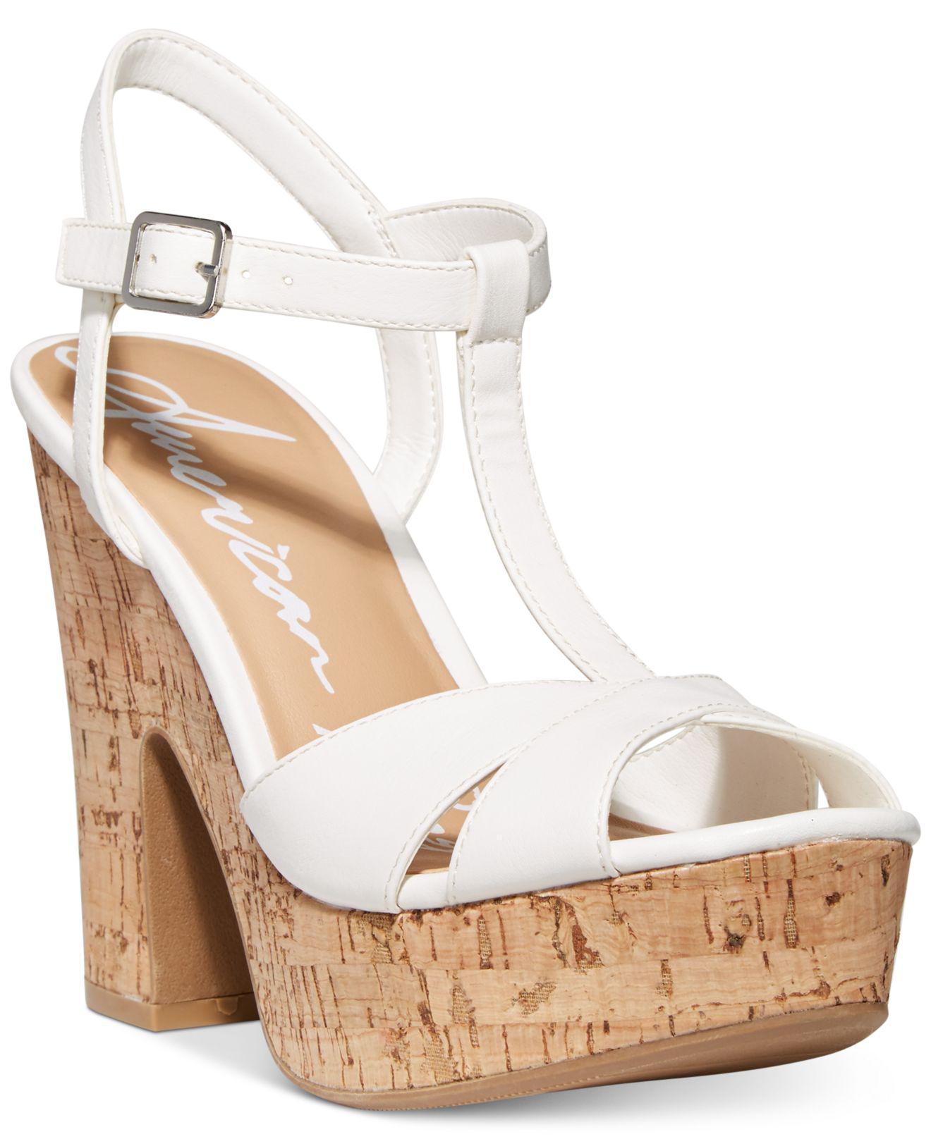 7a62f9ffed43 Lyst - American Rag Jamie T-strap Platform Dress Sandals
