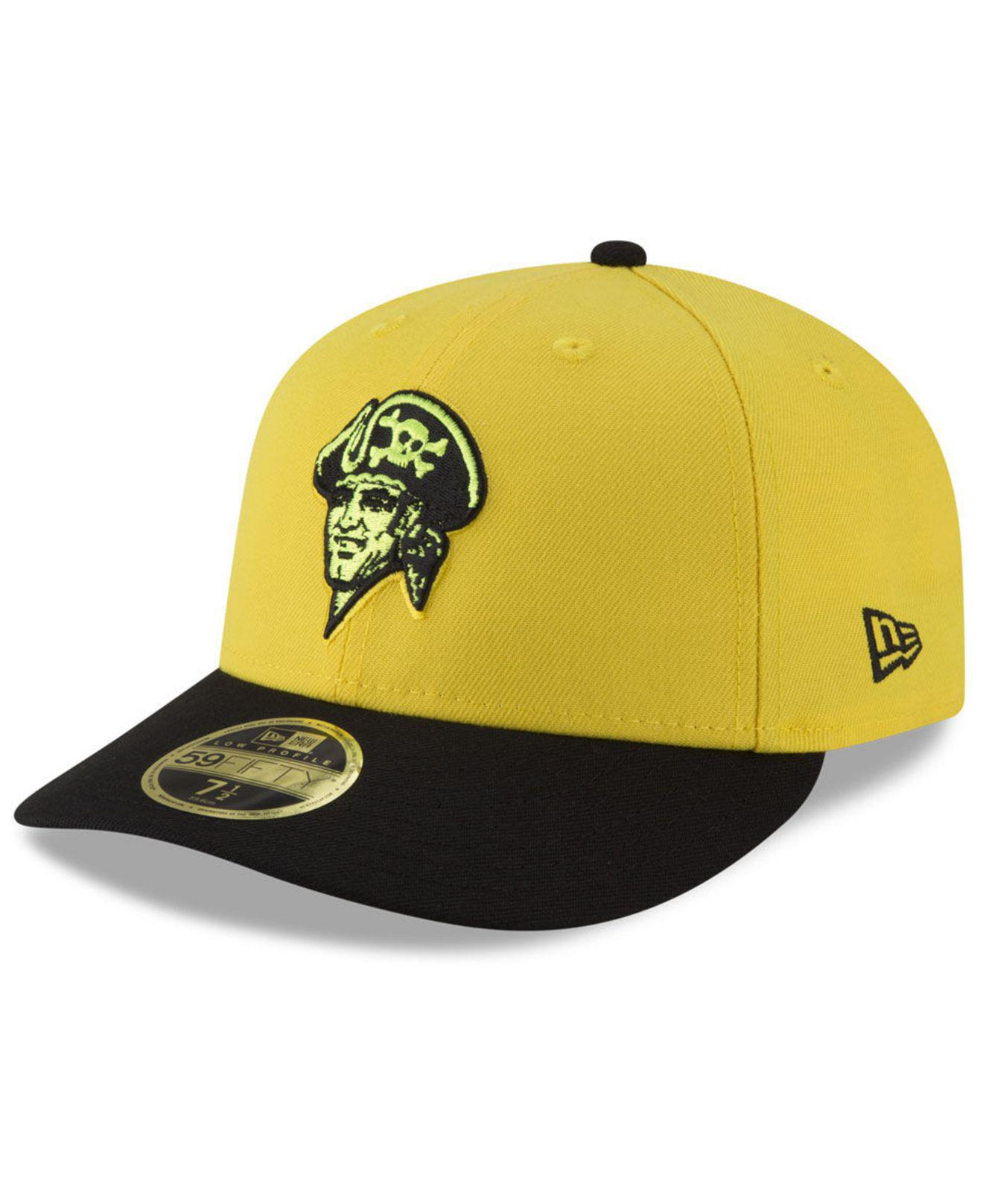 KTZ. Men s Yellow Pittsburgh Pirates Players Weekend Low Profile 59fifty  Fitted Cap 1dc864c98f6f