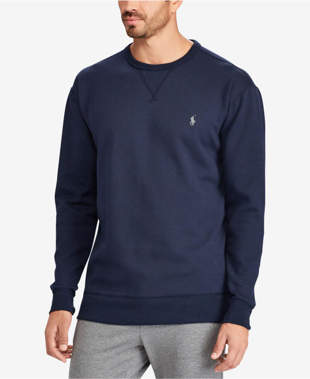 d8650ecc2 Polo Ralph Lauren Men s Big   Tall Double-knit Pullover in Blue for ...