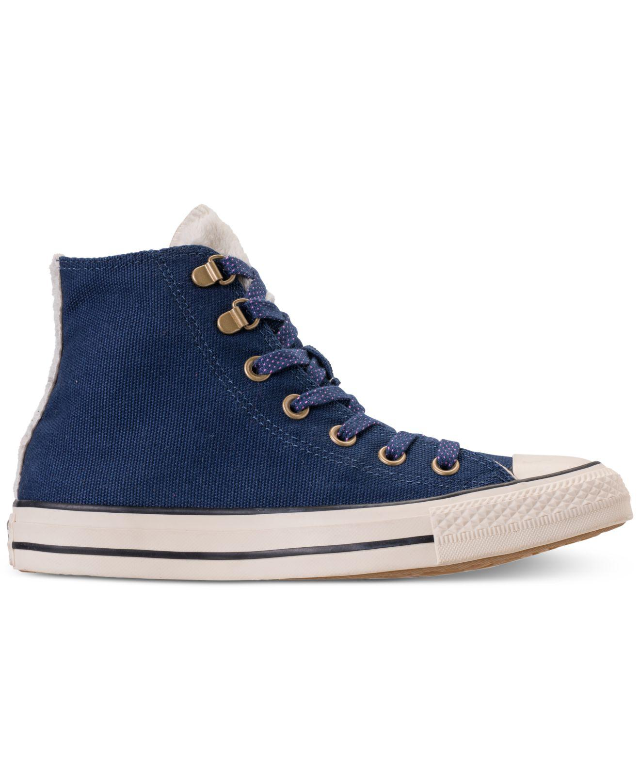 bd751889ac539b Lyst - Converse Chuck Taylor All Star Furst Love High Top Casual Sneakers  From Finish Line in Blue - Save 2%