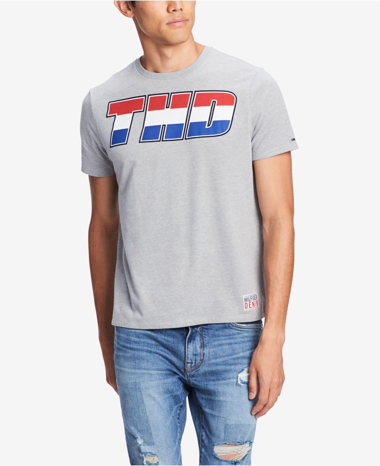 83ca8582b8bda6 Tommy Hilfiger. Men s Gray Sternards Graphic T-shirt
