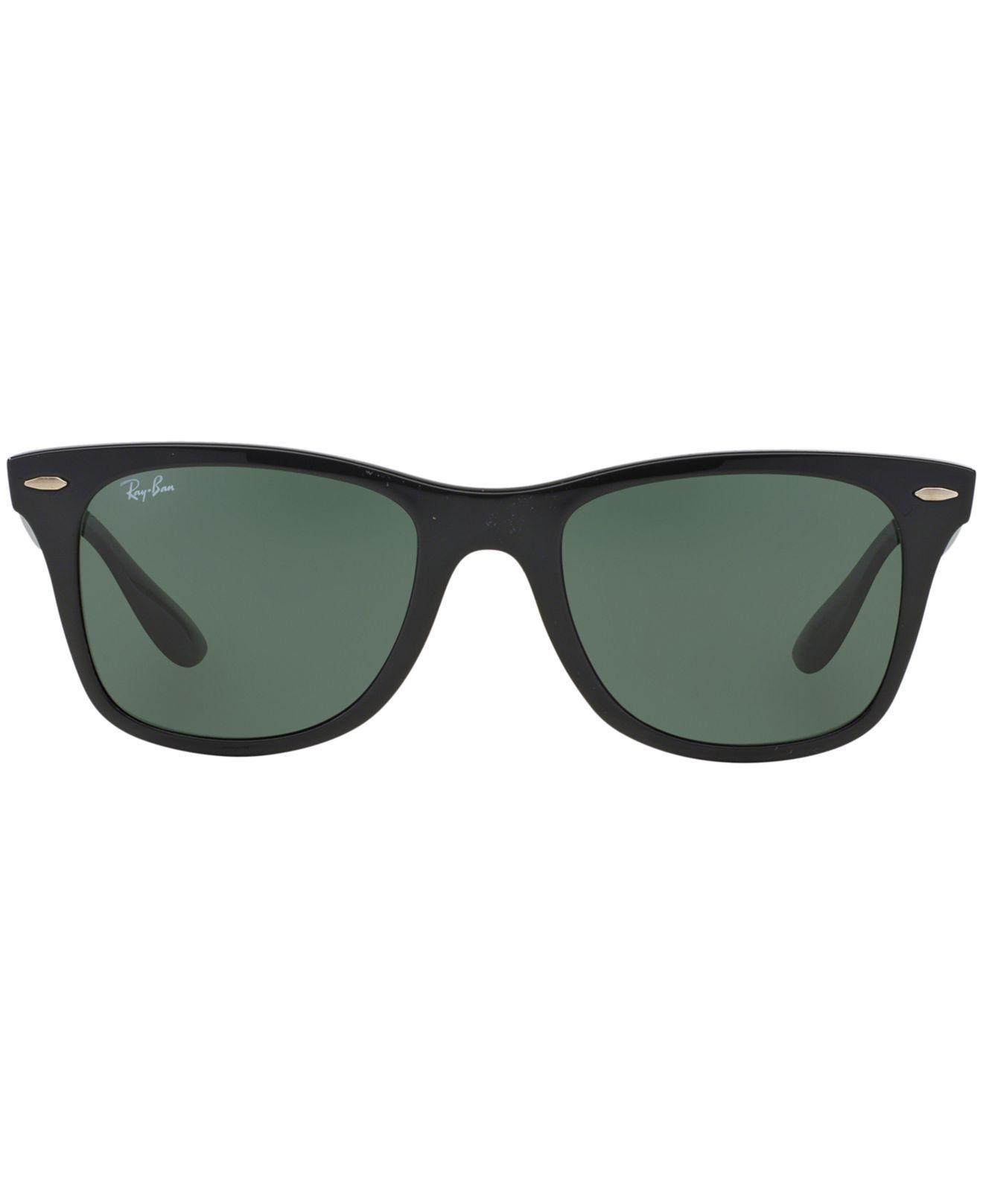 9b0c8a8b27c ... discount lyst ray ban sunglasses rb4195 52 wayfarer liteforce in black  for men b33a8 de554