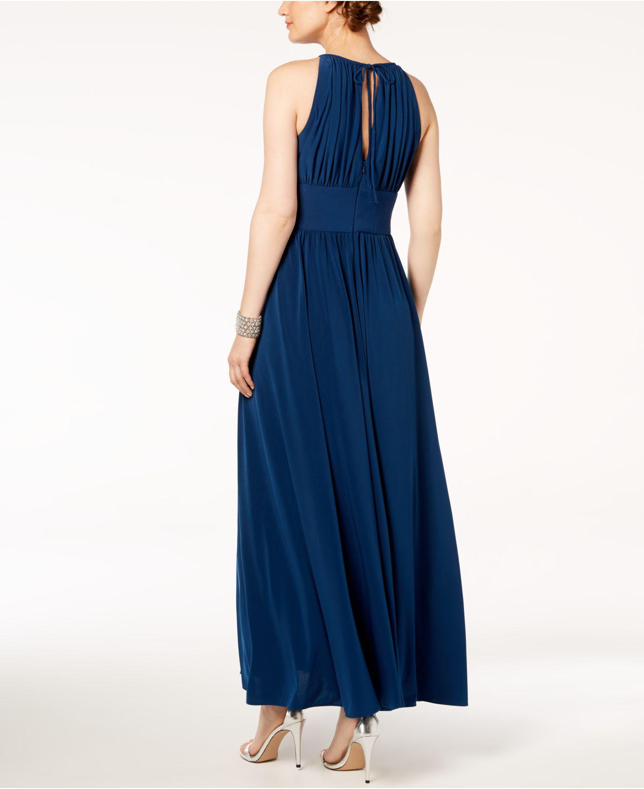 Lyst - R & M Richards R&m Richards Beaded Gown in Blue