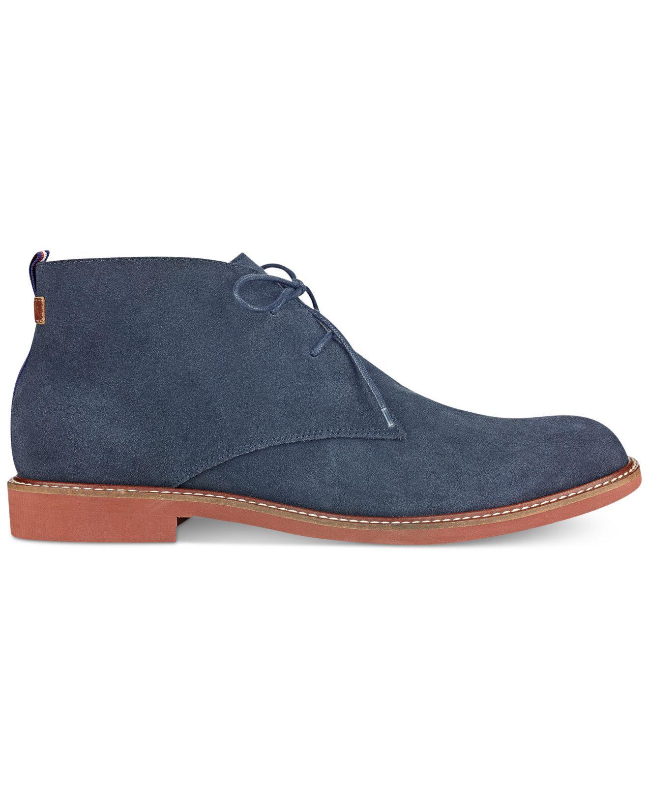 d49fa0951 Lyst - Tommy Hilfiger Men s Gervis Chukka Boots in Blue for Men