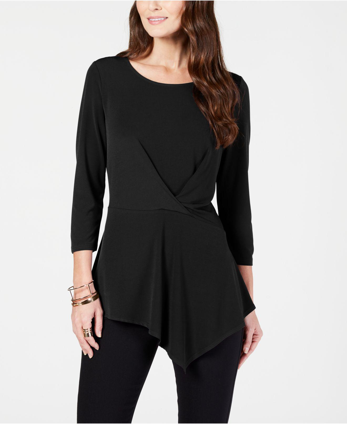 4e3ae4a8619 Lyst - Alfani Solid Twist Top, Created For Macy's in Black