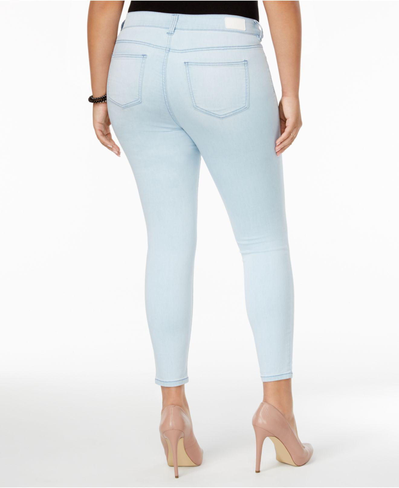 31176658e61 Lyst - Celebrity Pink Plus Size Outsiders Wash Super-soft Skinny Jeans in  Blue