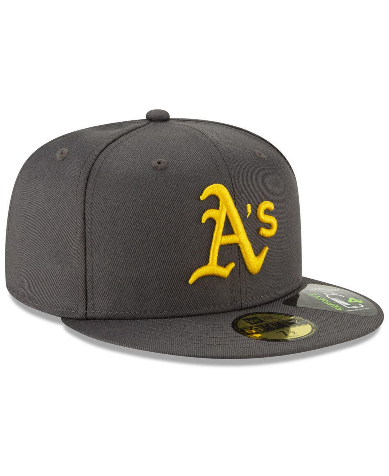 official photos a9b46 35619 ... Oakland Athletics Recycled 59fifty Fitted Cap for Men - Lyst. View  fullscreen